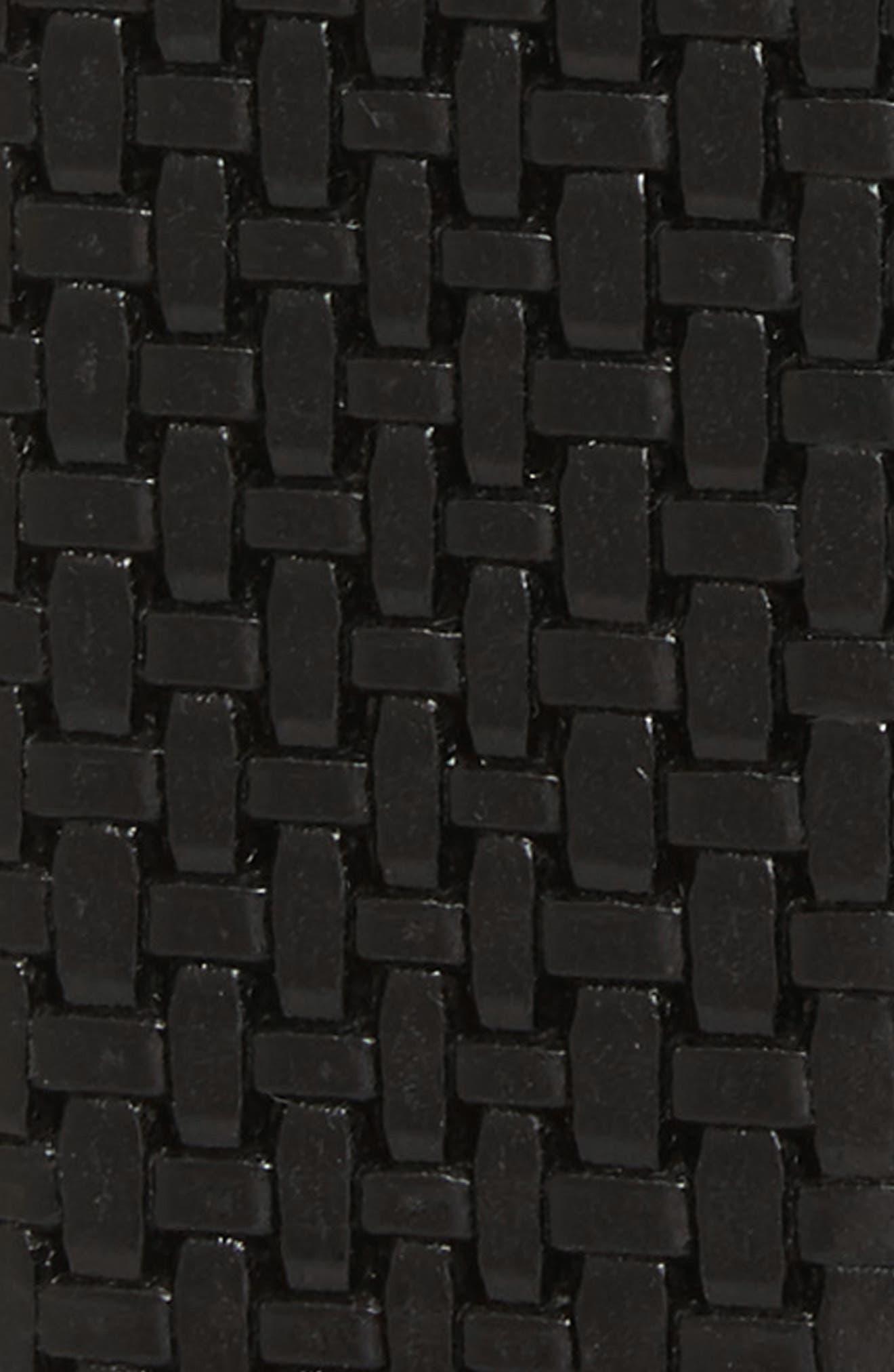 Woven Leather Belt,                             Alternate thumbnail 2, color,                             001