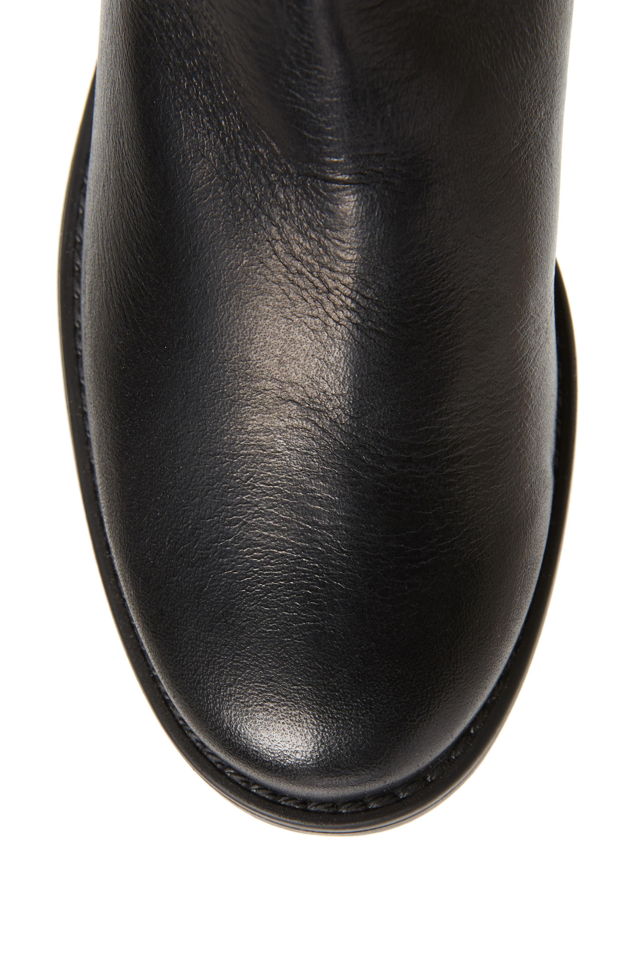 Amalfi 16 Boot,                             Alternate thumbnail 5, color,                             BLACK LEATHER