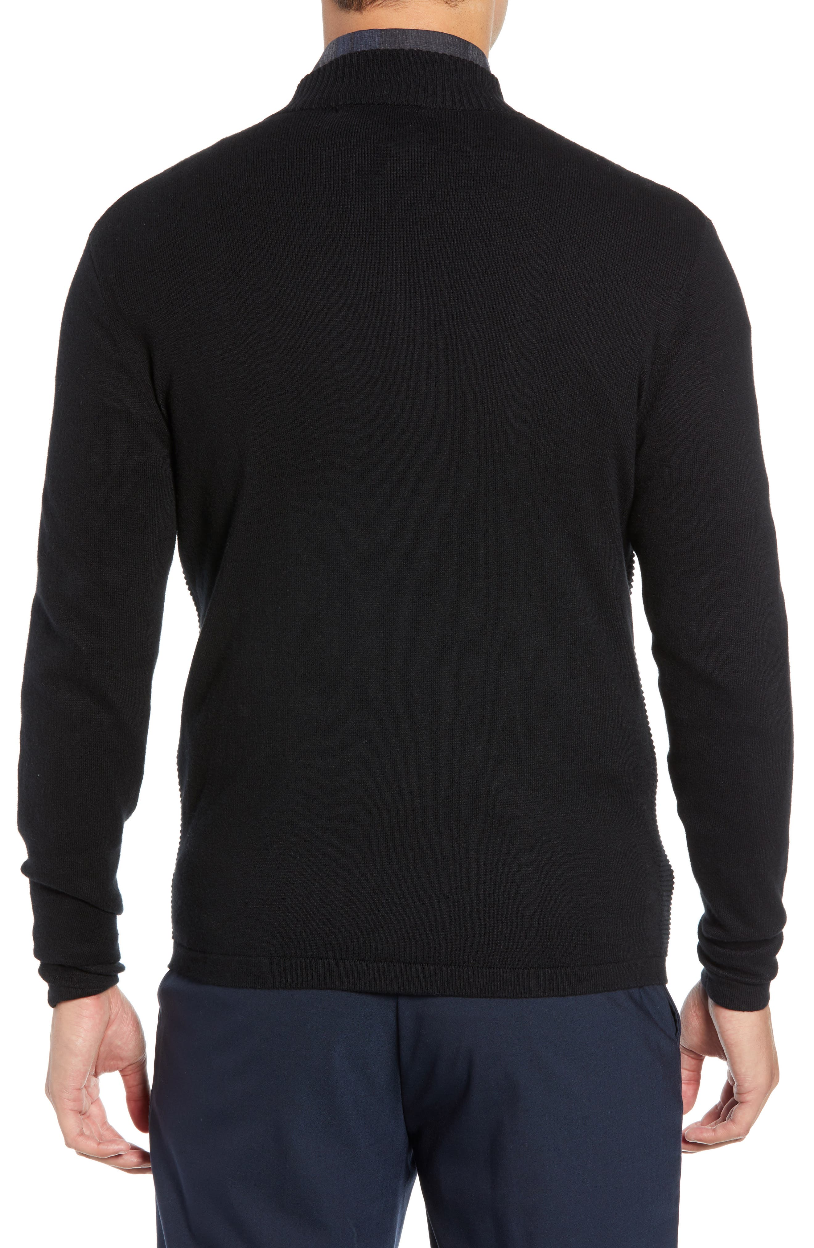 Yorkville Zip Sweater,                             Alternate thumbnail 2, color,                             BLACK