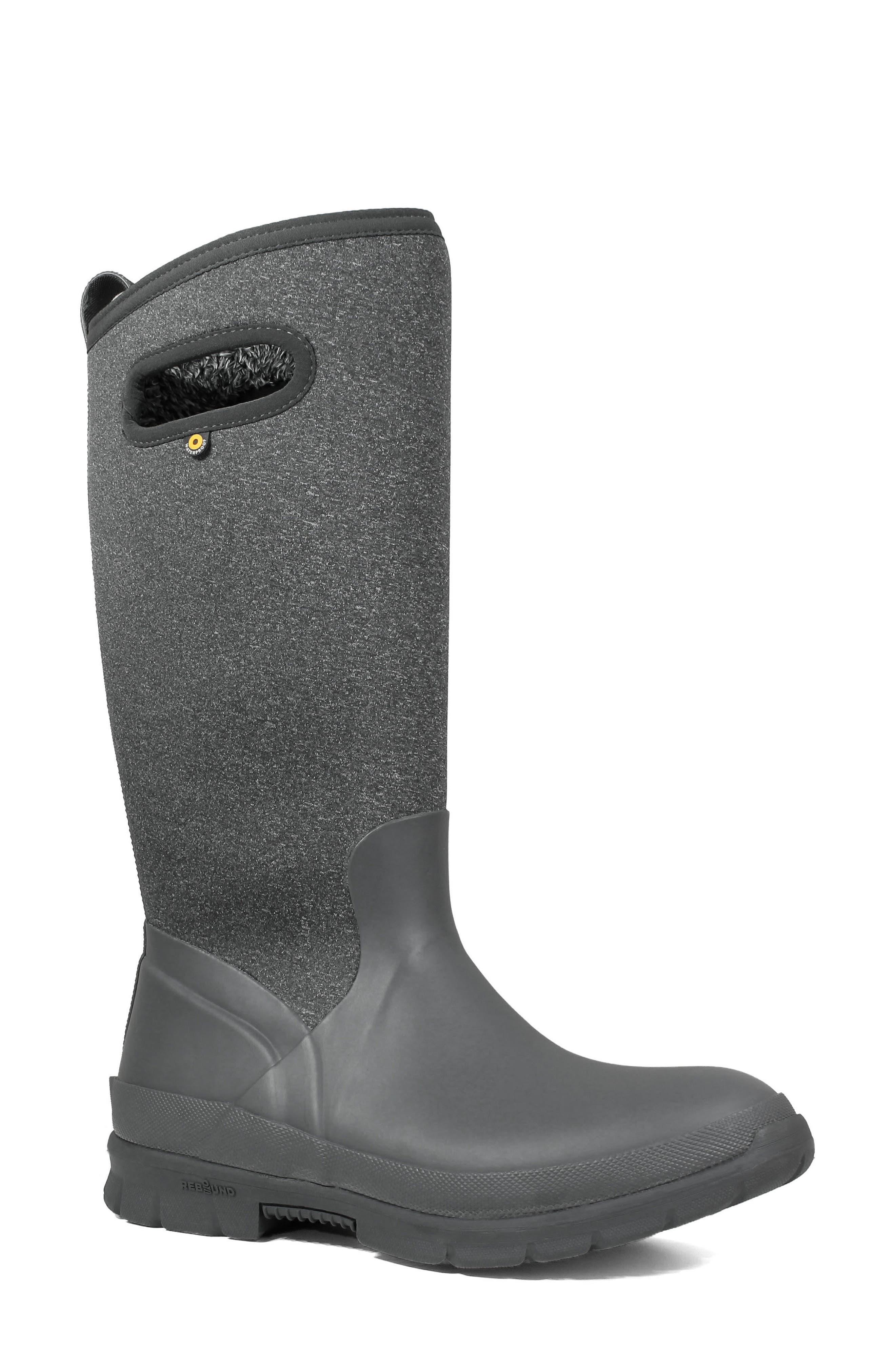 Crandall Waterproof Tall Boot,                             Main thumbnail 1, color,                             DARK GREY