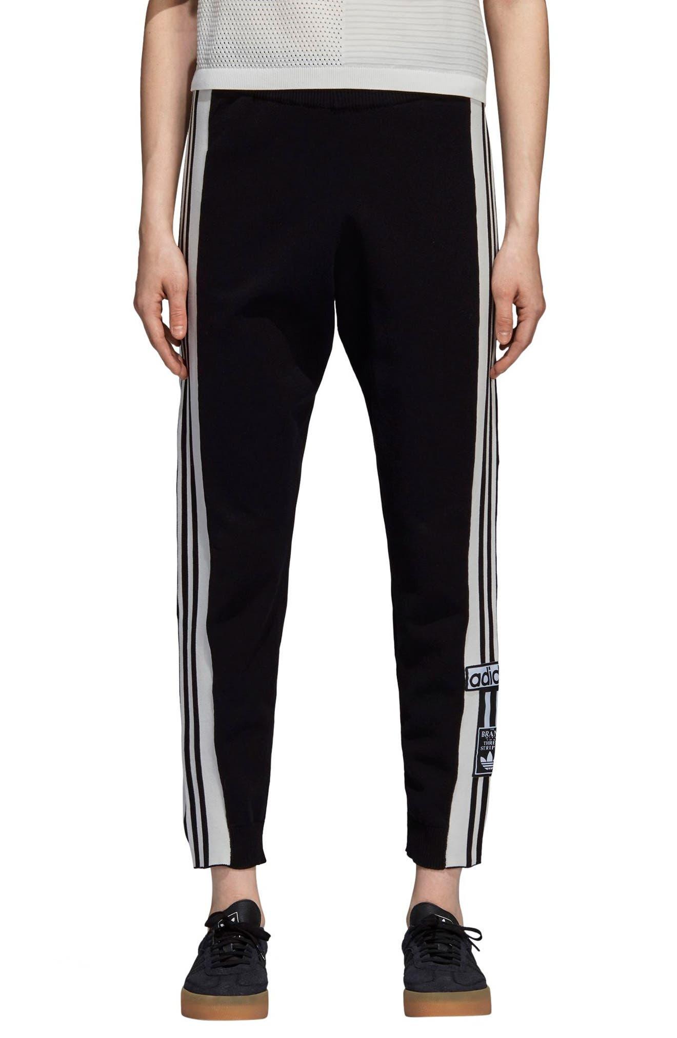 Adibreak Track Pants,                             Main thumbnail 1, color,                             BLACK