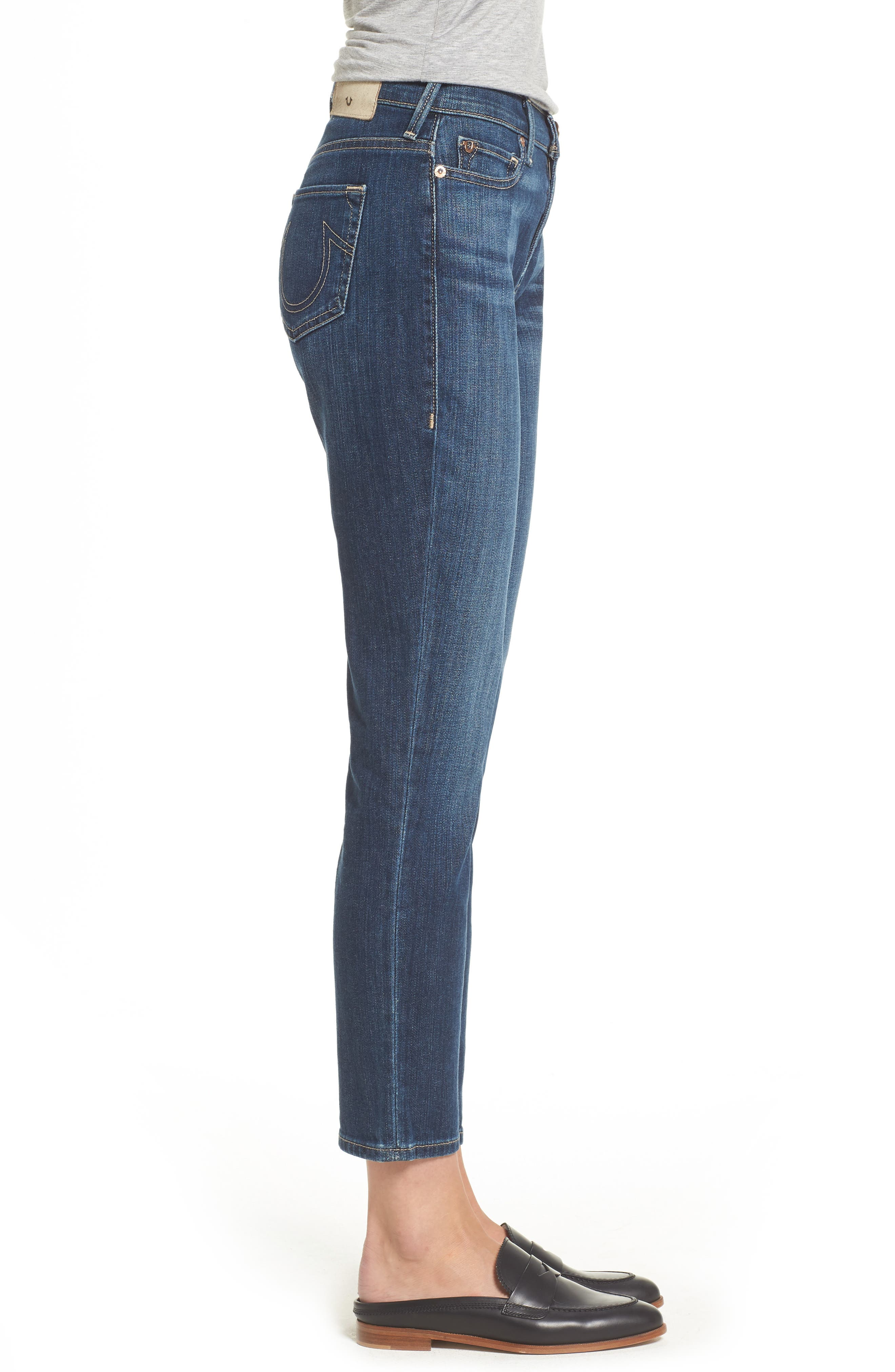 Colette High Waist Tapered Skinny Jeans,                             Alternate thumbnail 3, color,                             402