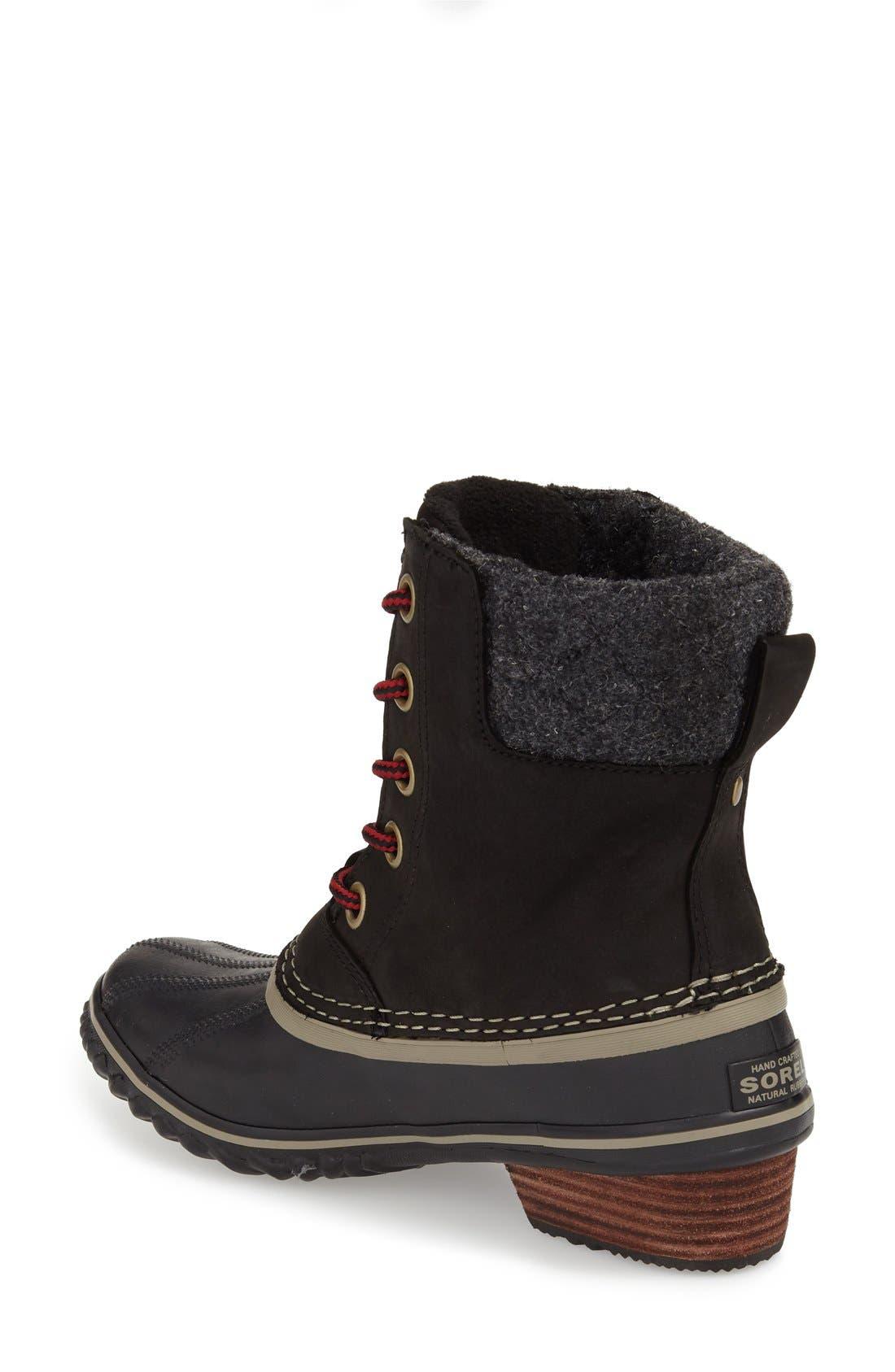 SOREL,                             Slimpack II Waterproof Boot,                             Alternate thumbnail 2, color,                             BLACK
