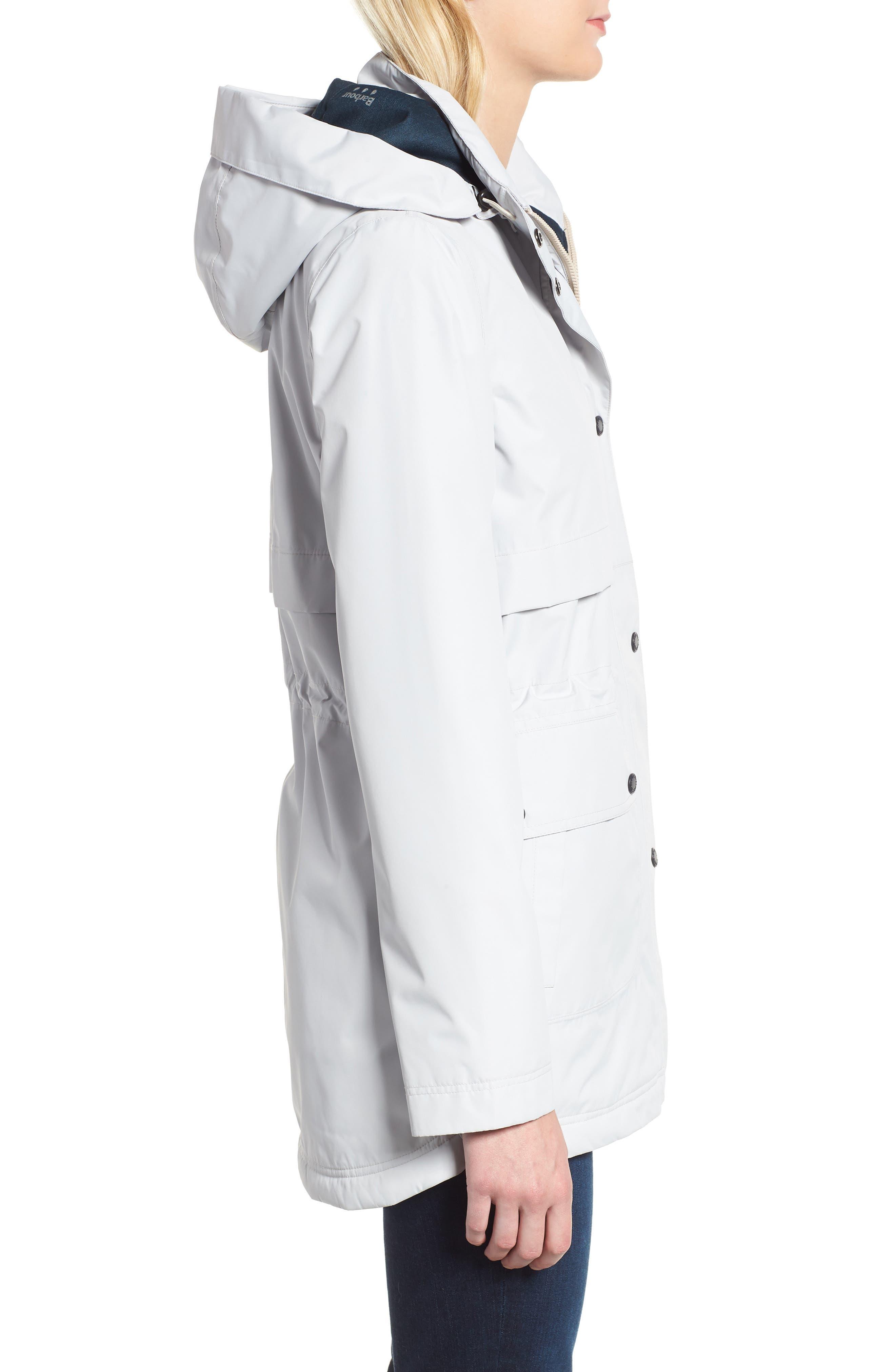 Altair Waterproof Hooded Jacket,                             Alternate thumbnail 3, color,                             ICE WHITE