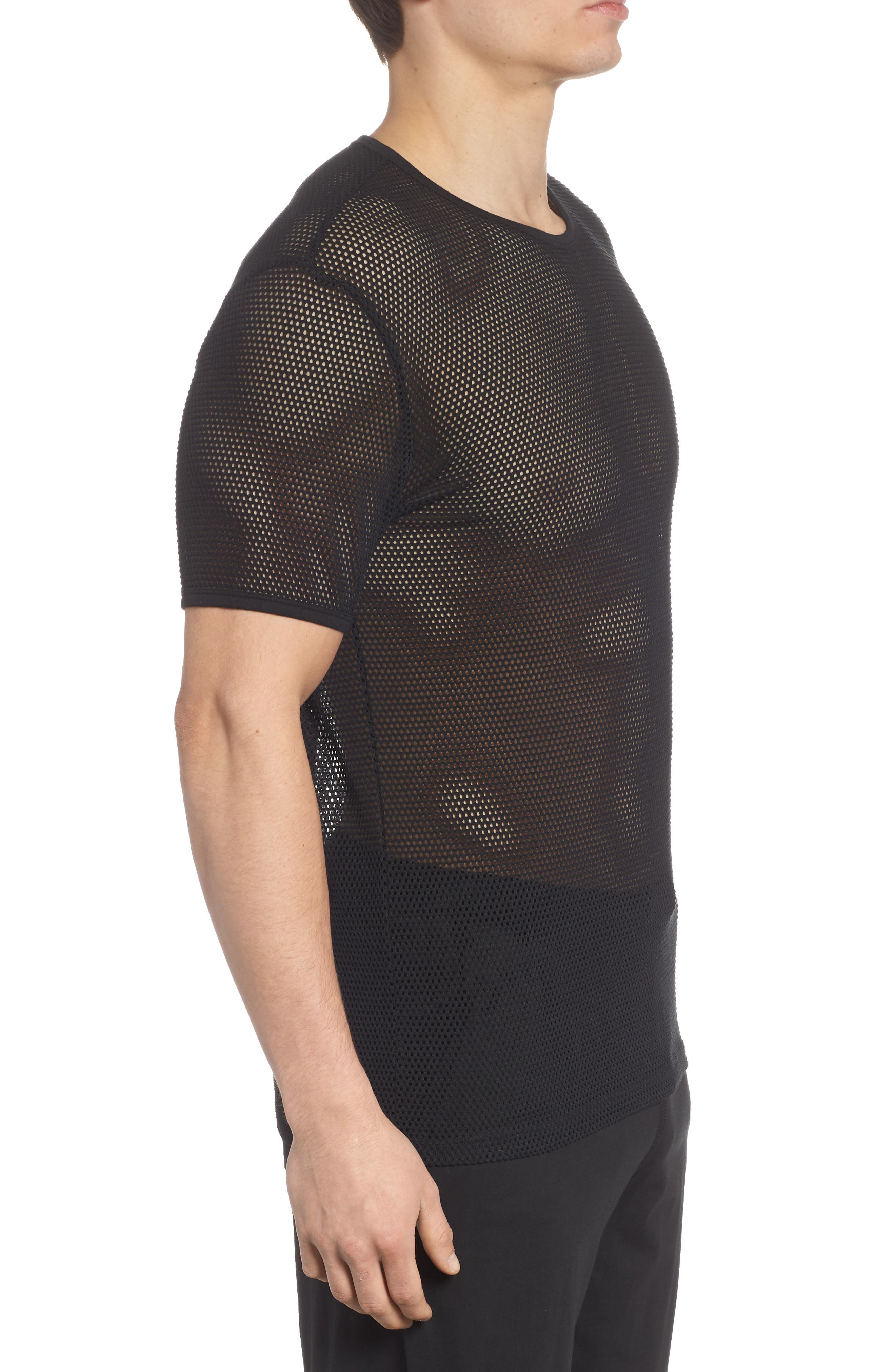 Stretch Mesh T-Shirt,                             Alternate thumbnail 5, color,