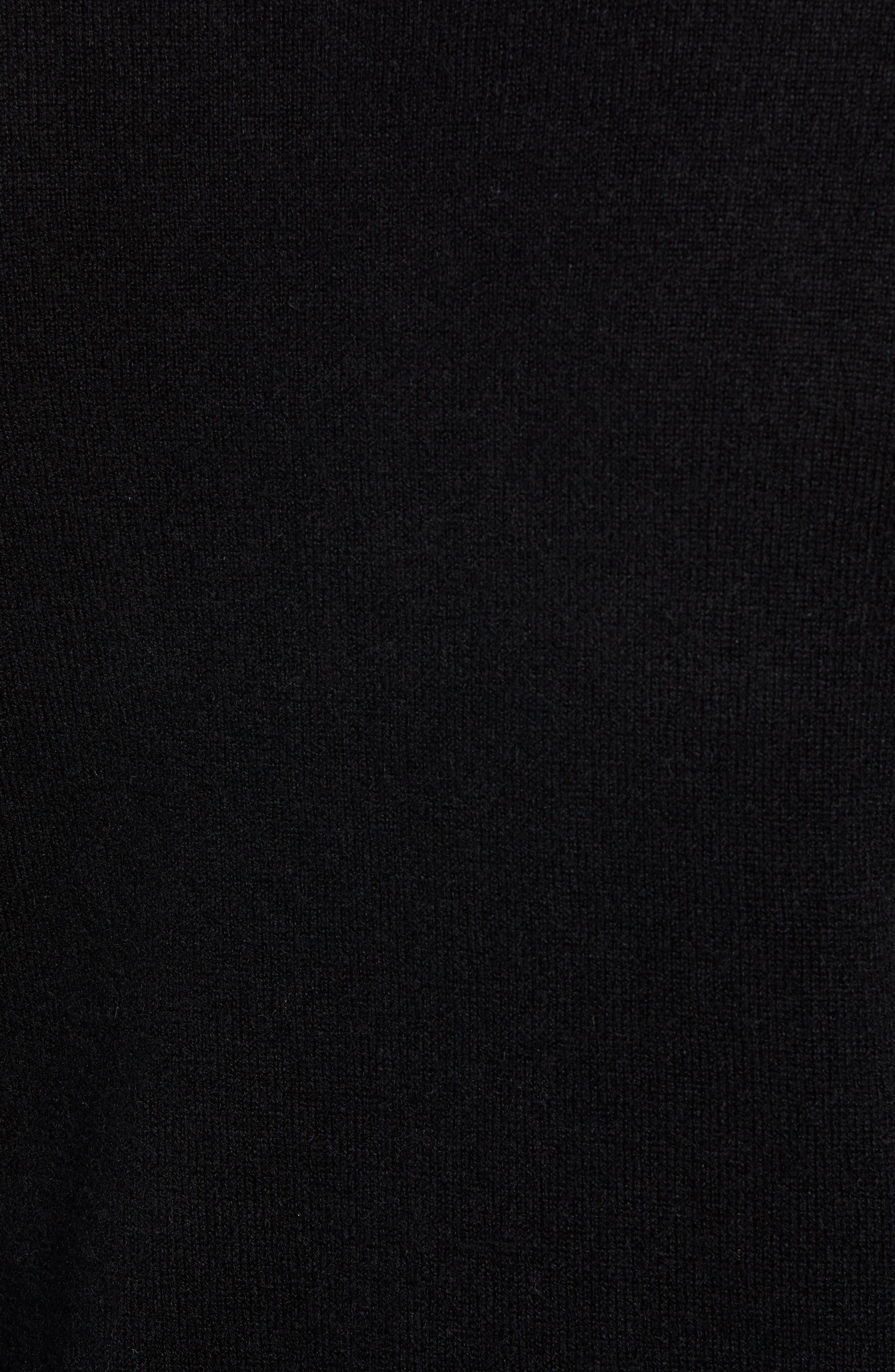 J.CREW,                             Everyday Cashmere Regular Fit V-Neck Sweater,                             Alternate thumbnail 5, color,                             001