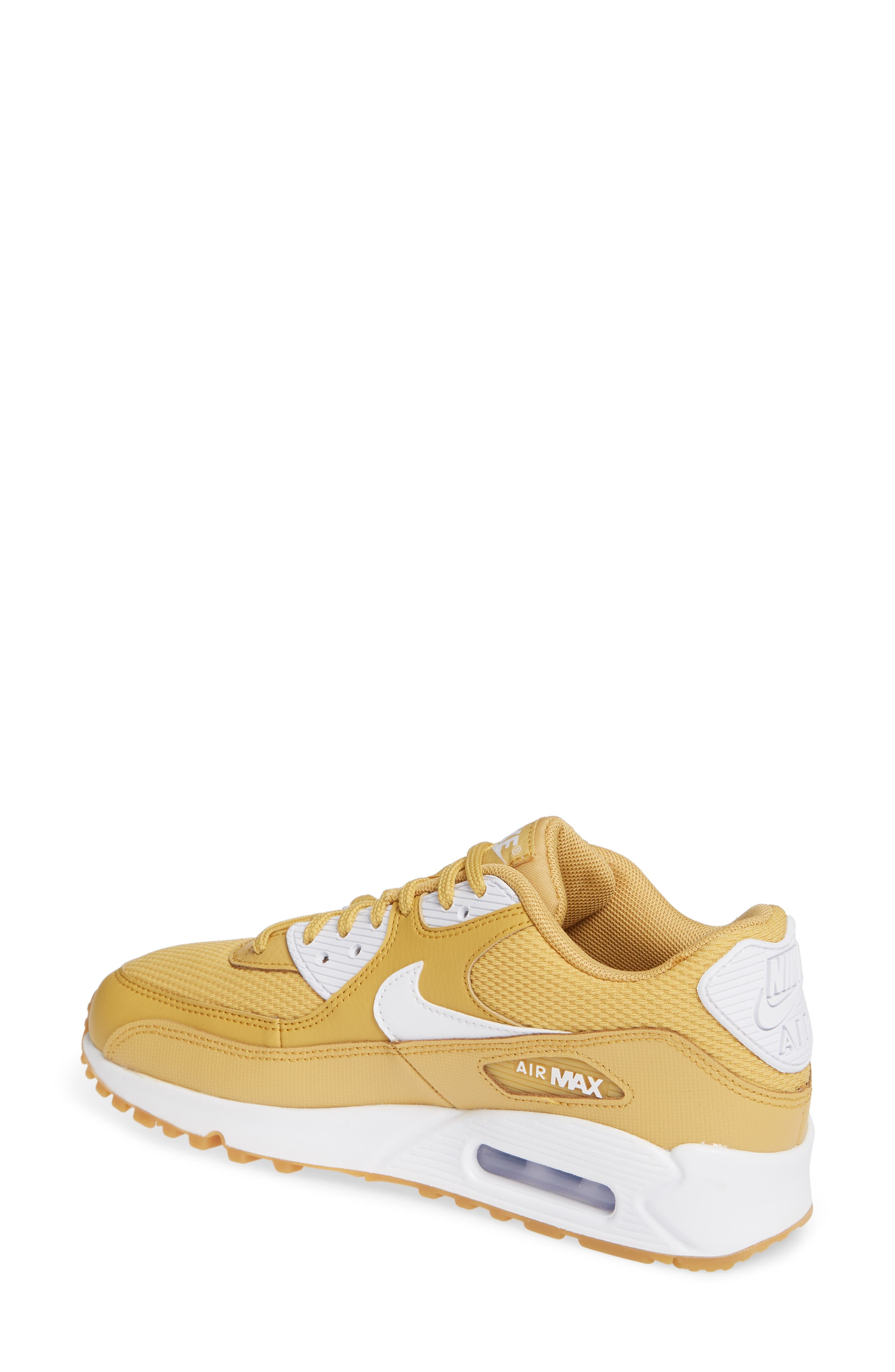 'Air Max 90' Sneaker,                             Alternate thumbnail 2, color,                             WHEAT GOLD/ WHITE/ LIGHT BROWN