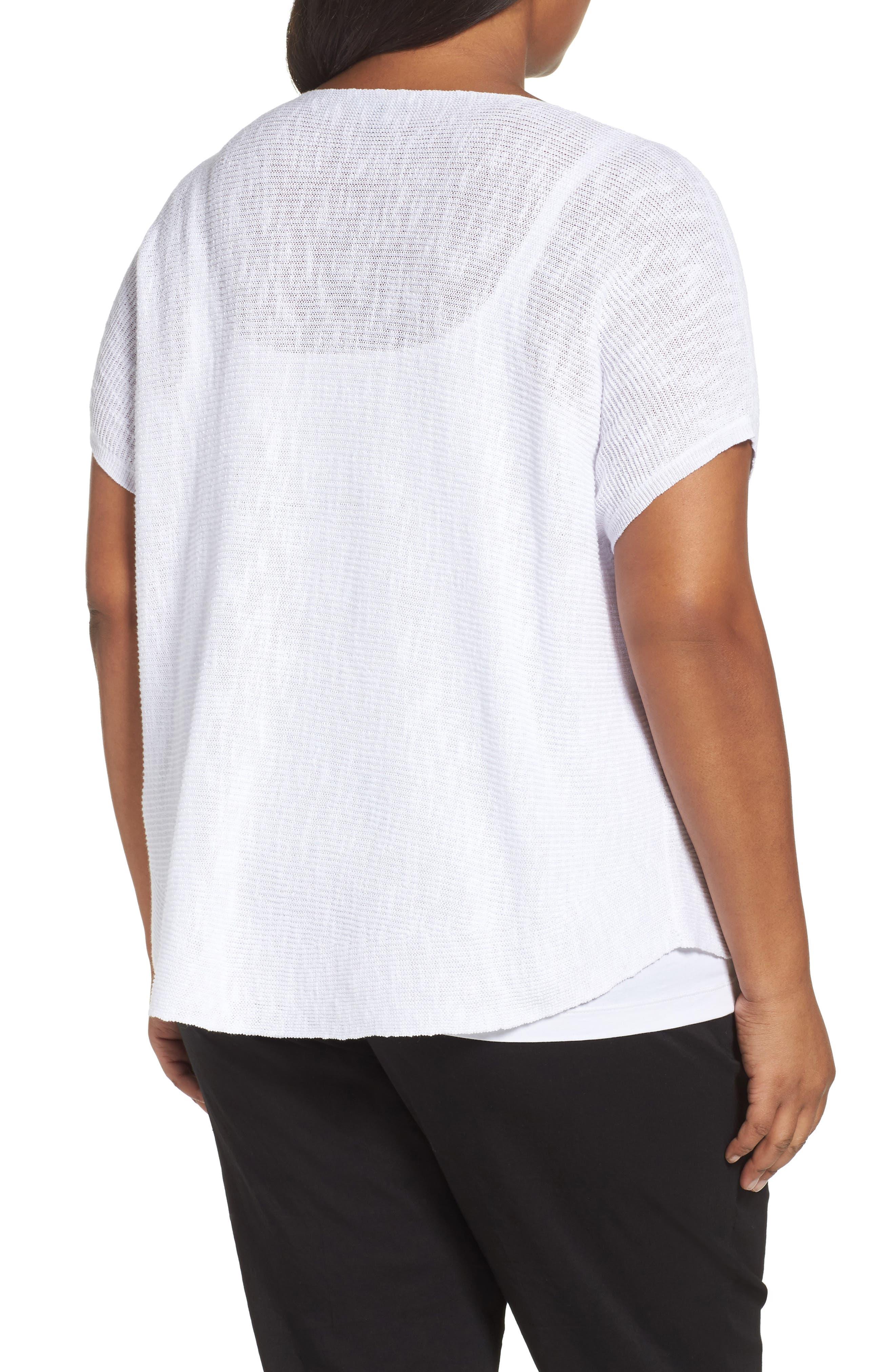 Organic Linen & Cotton Rib Sweater,                             Alternate thumbnail 2, color,                             100