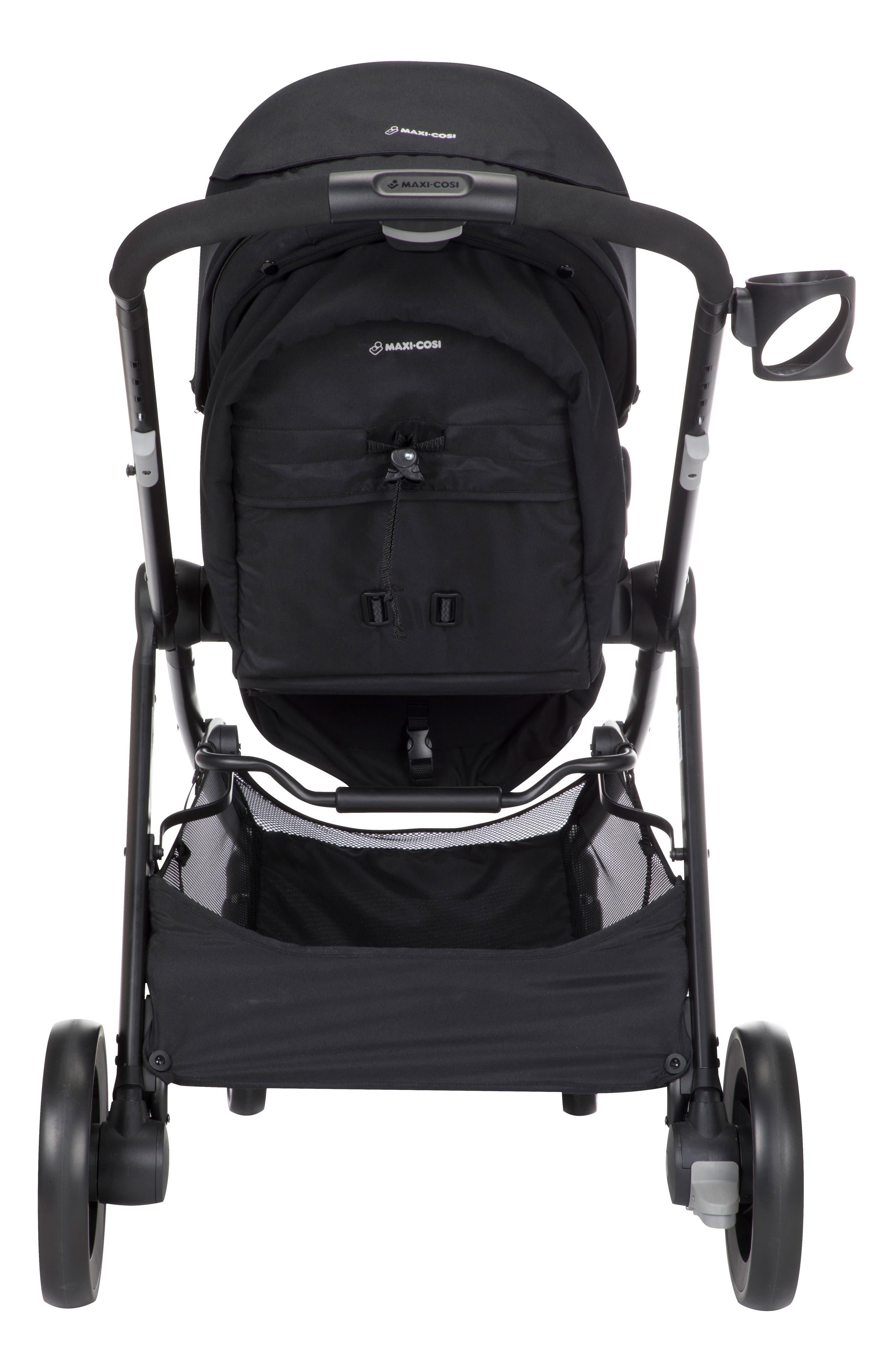 5-1 Mico 30 Infant Car Seat & Zelia Stroller Modular Travel System,                             Alternate thumbnail 3, color,                             NIGHT BLACK