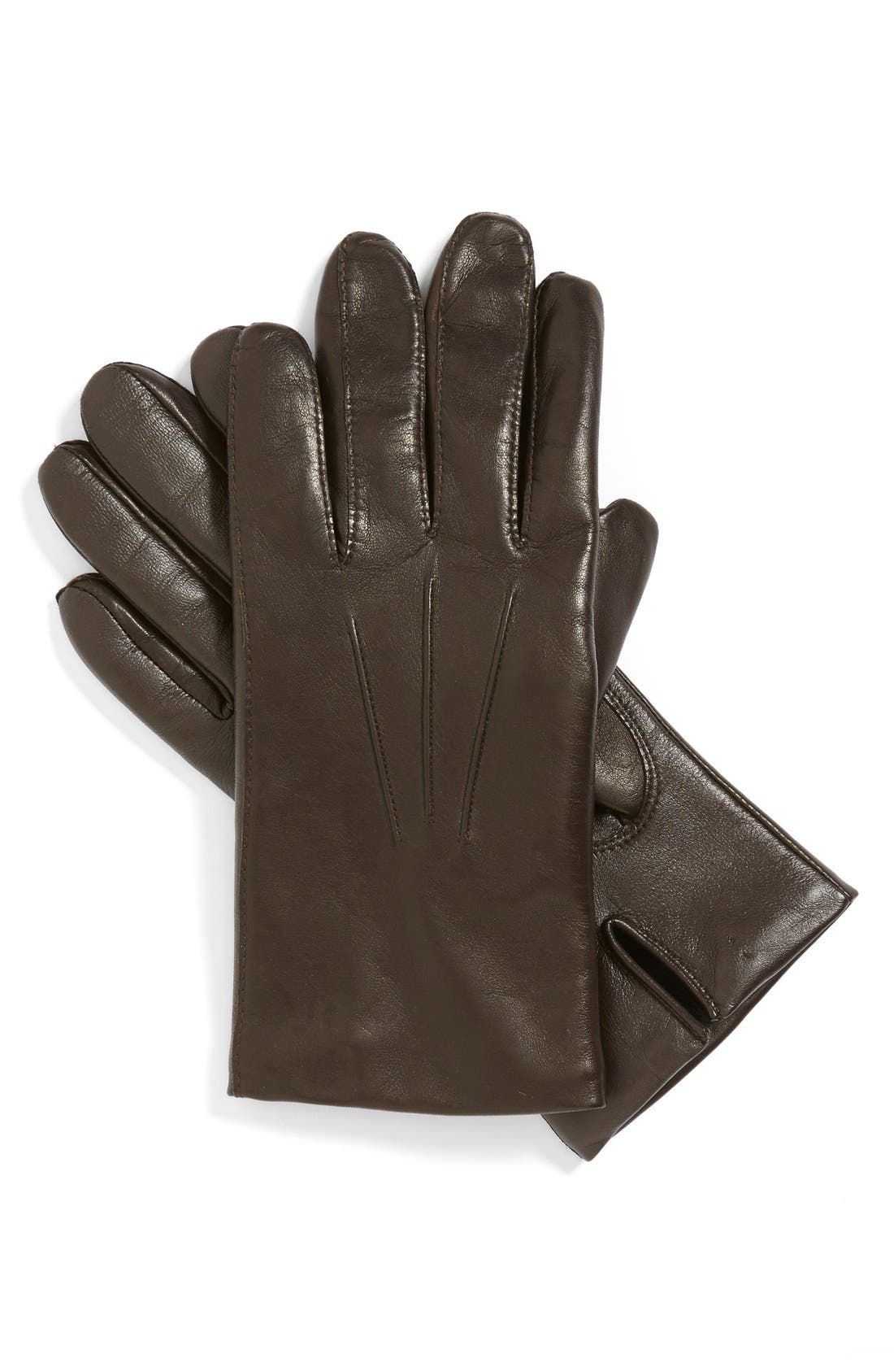 Leather Tech Gloves,                             Main thumbnail 2, color,