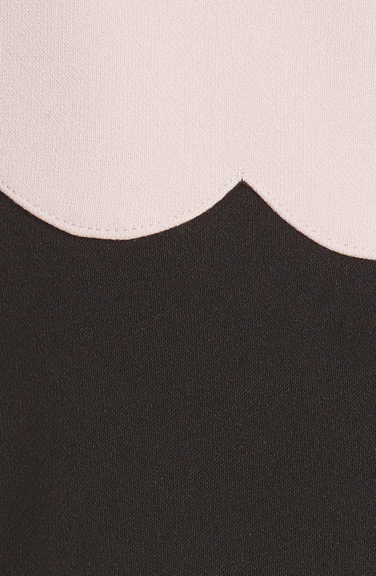 scallop sleeveless dress,                             Alternate thumbnail 5, color,                             663