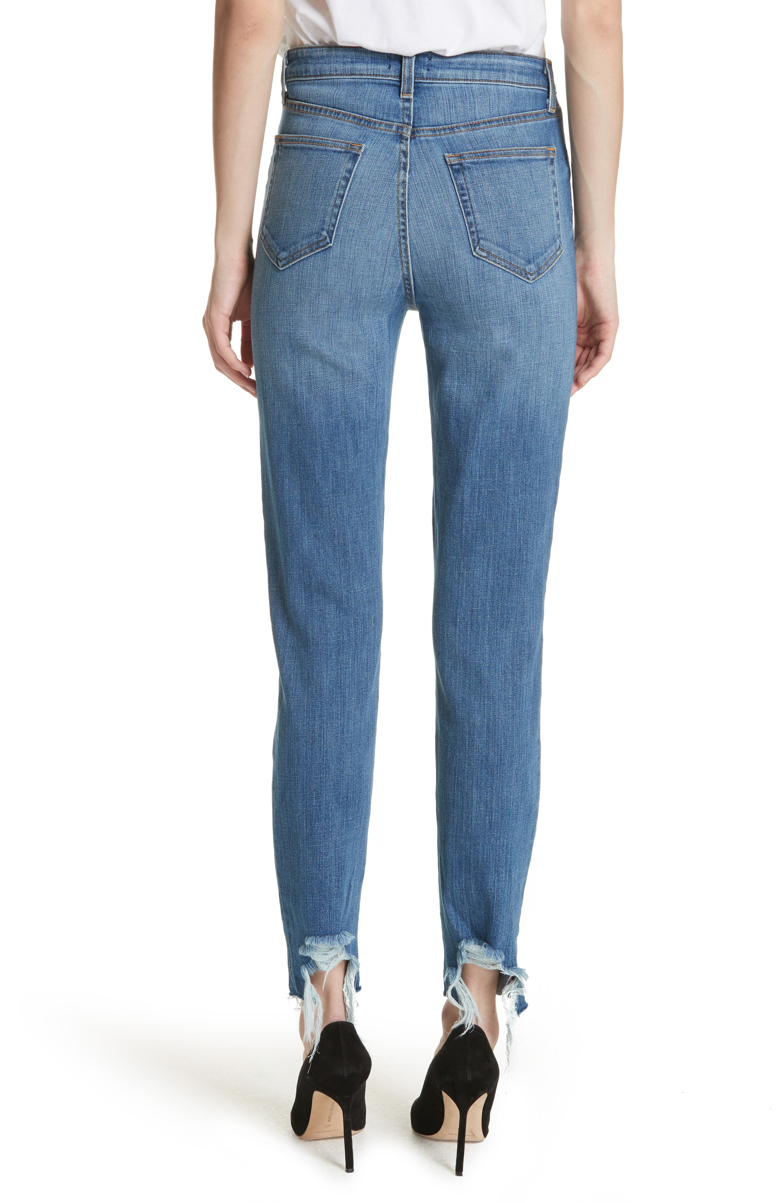 Lorelei High Waist Slim Straight Jeans,                             Alternate thumbnail 2, color,                             450