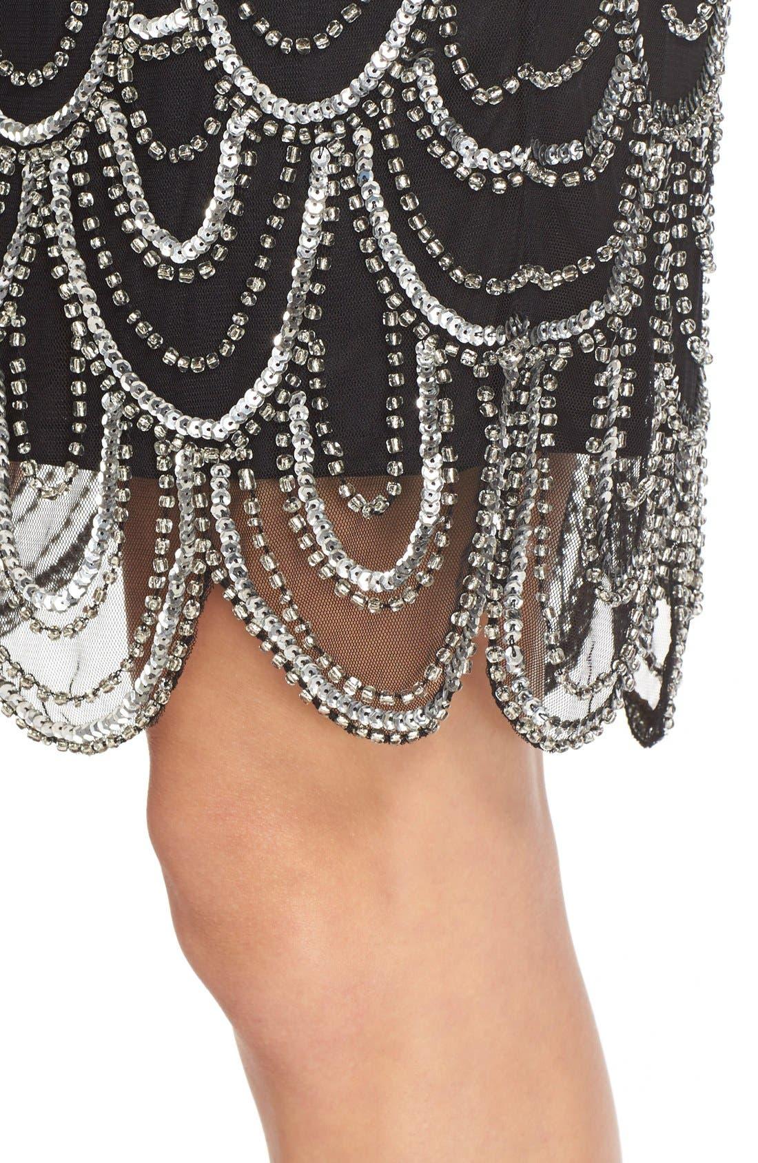 Embellished Mesh Sheath Dress,                             Alternate thumbnail 84, color,