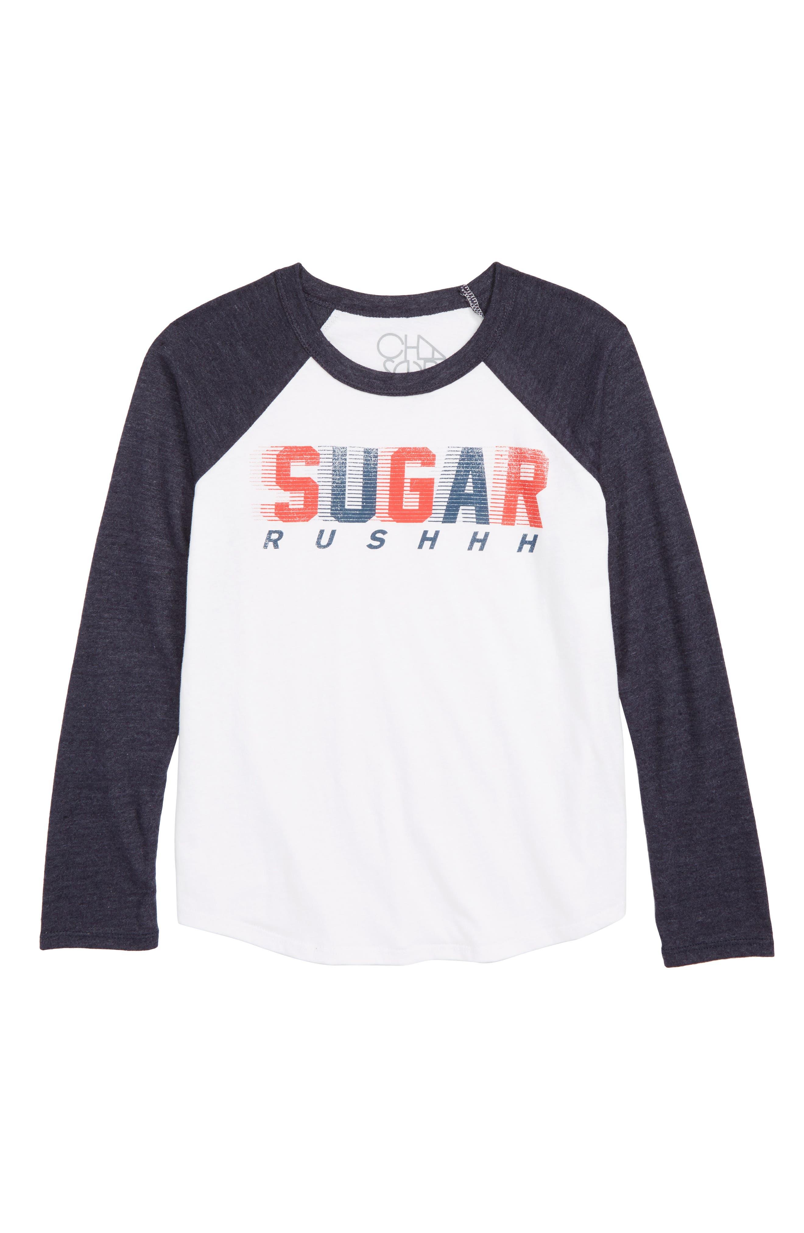 CHASER,                             Sugar Rush Graphic T-Shirt,                             Main thumbnail 1, color,                             WHITE / AVALON