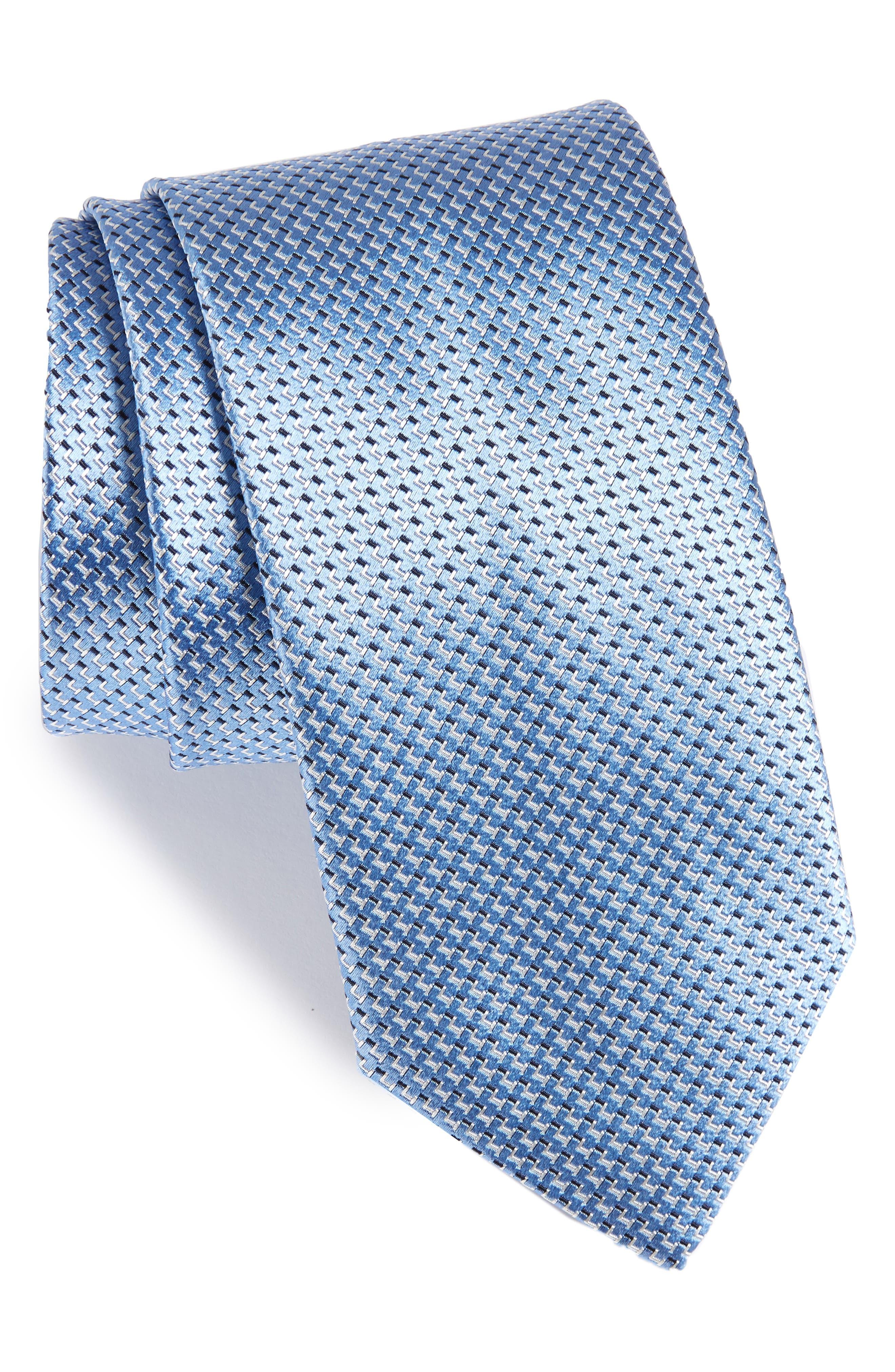 Solid Silk Tie,                         Main,                         color, 450
