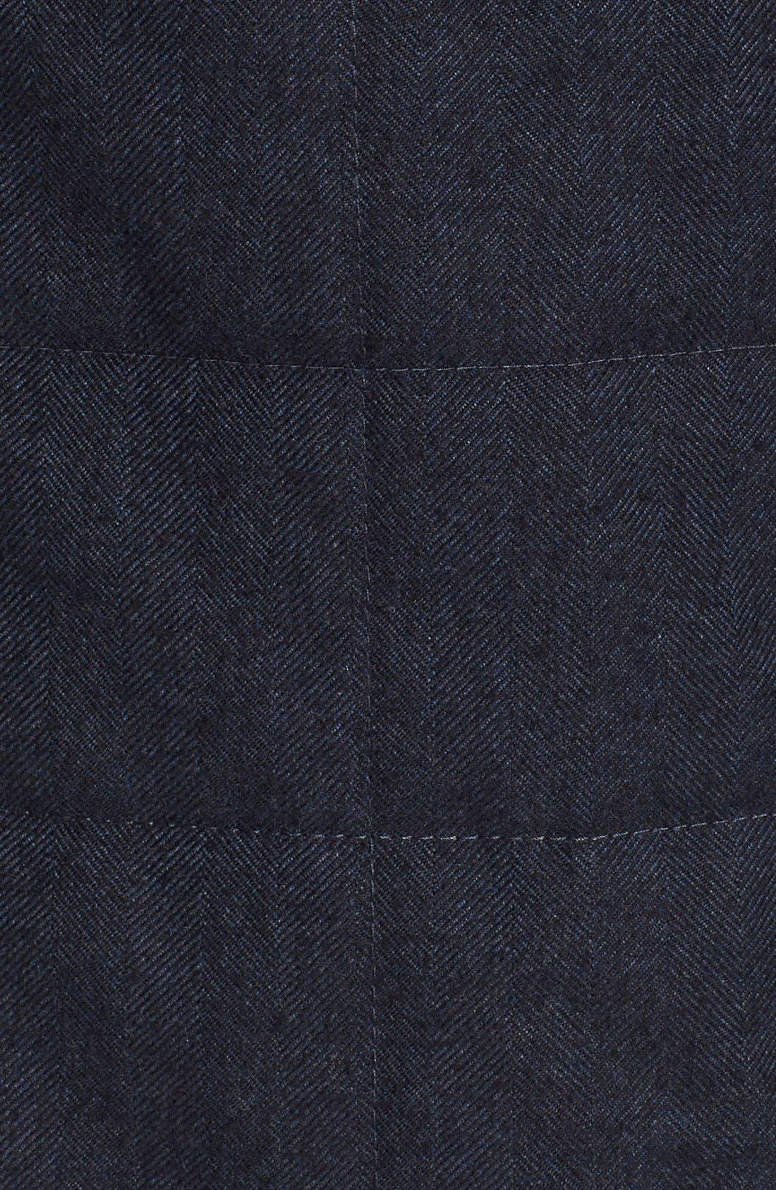 Quilted Herringbone Shirt Jacket,                             Alternate thumbnail 5, color,