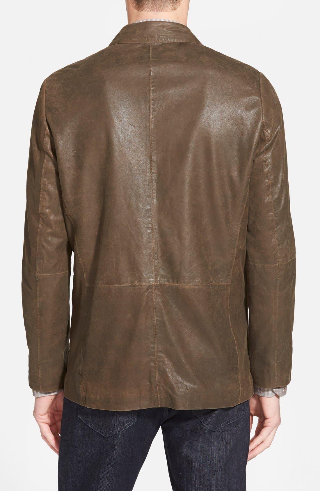 Trim Fit Lambskin Leather Sport Coat,                             Alternate thumbnail 2, color,                             200
