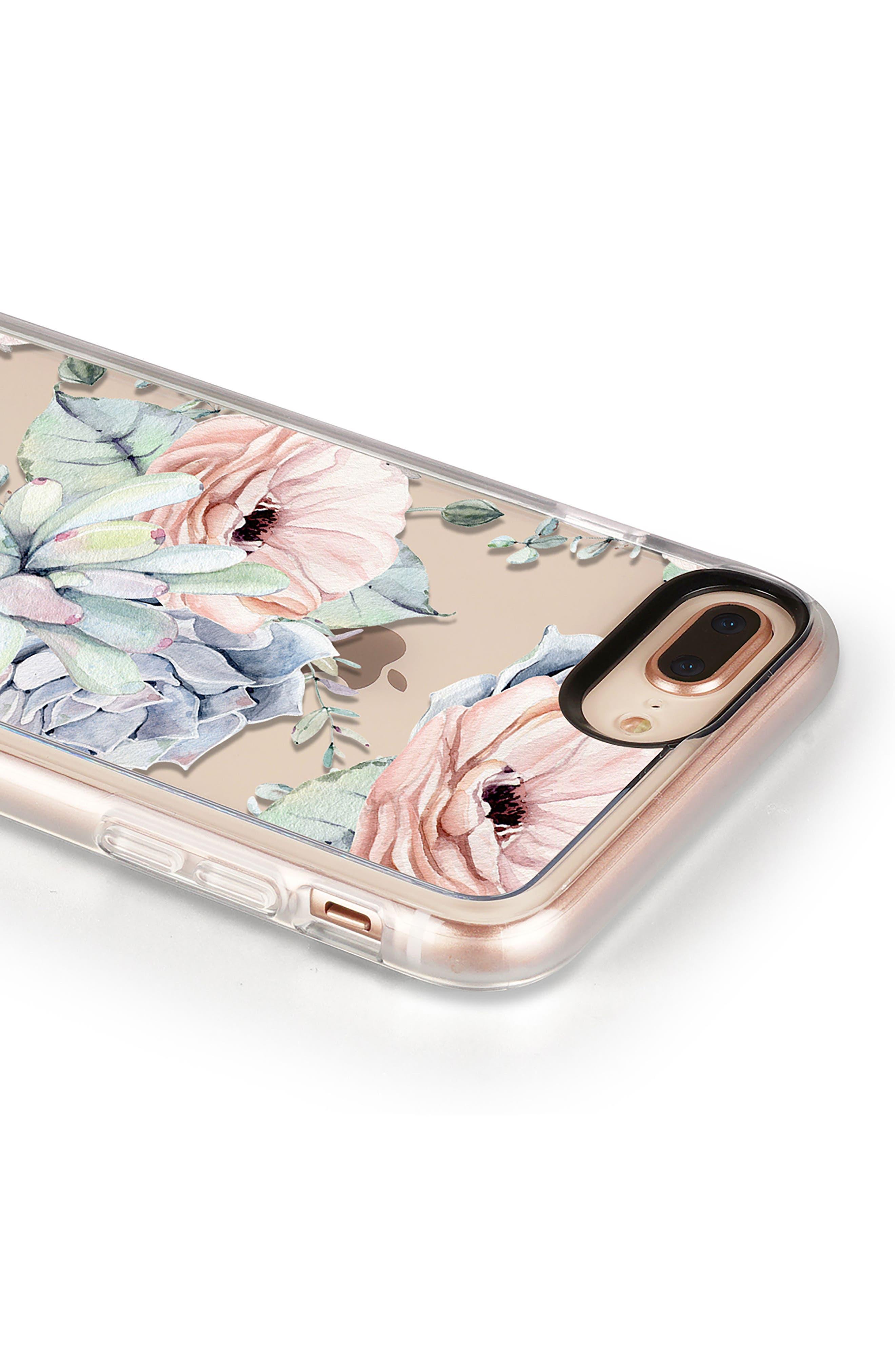 Pretty Succulents iPhone 7/8 & 7/8 Plus Case,                             Alternate thumbnail 5, color,                             CLEAR MULTI