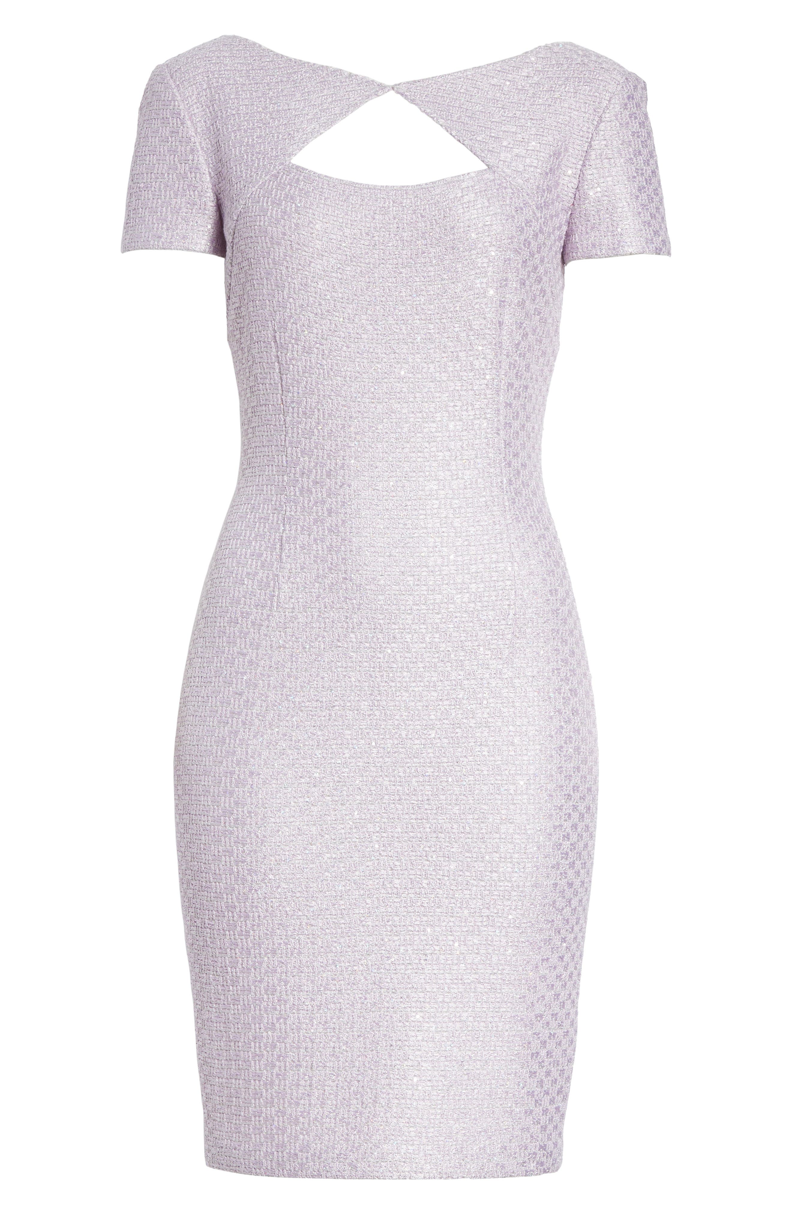 Hansh Sequin Knit Cutout Dress,                             Alternate thumbnail 6, color,                             530