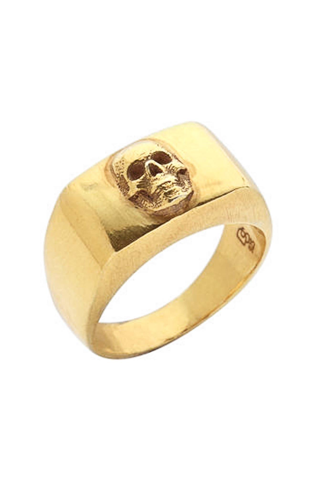 Skull Ring,                             Main thumbnail 1, color,                             GOLD