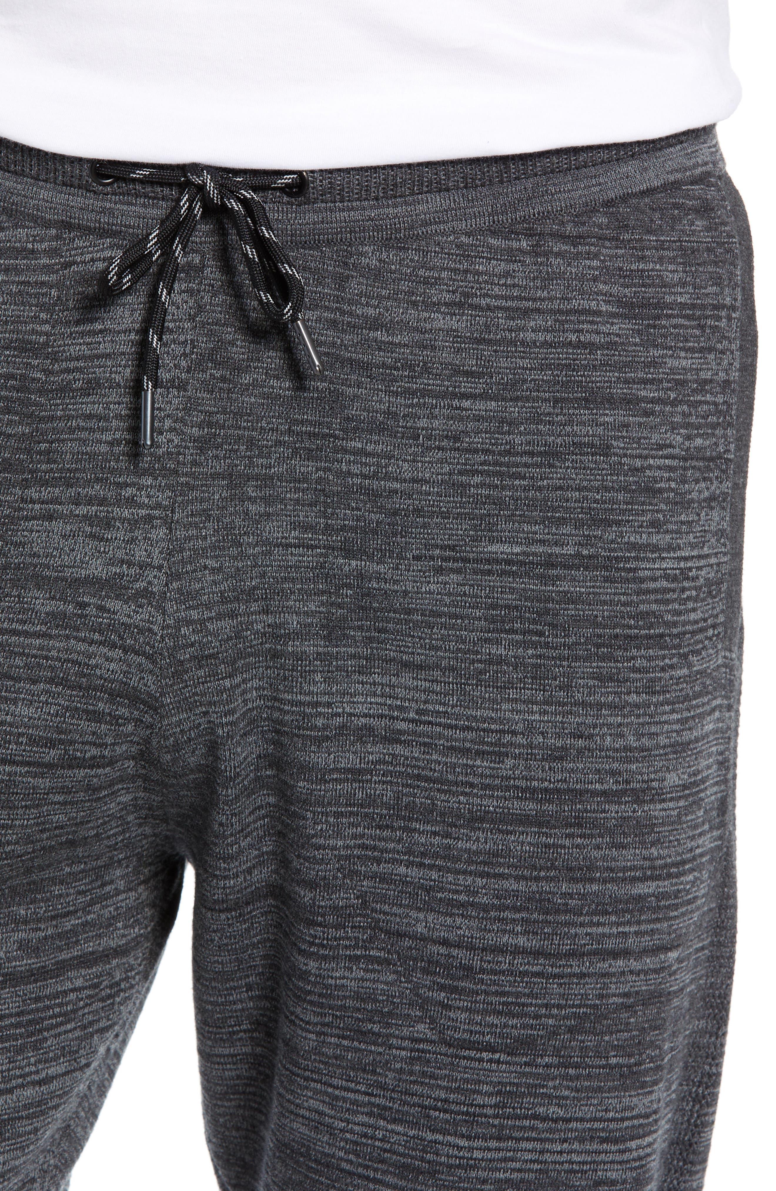 Tech Sweater Knit Jogger Pants,                             Alternate thumbnail 4, color,                             BLACK OXIDE SPACEDYE