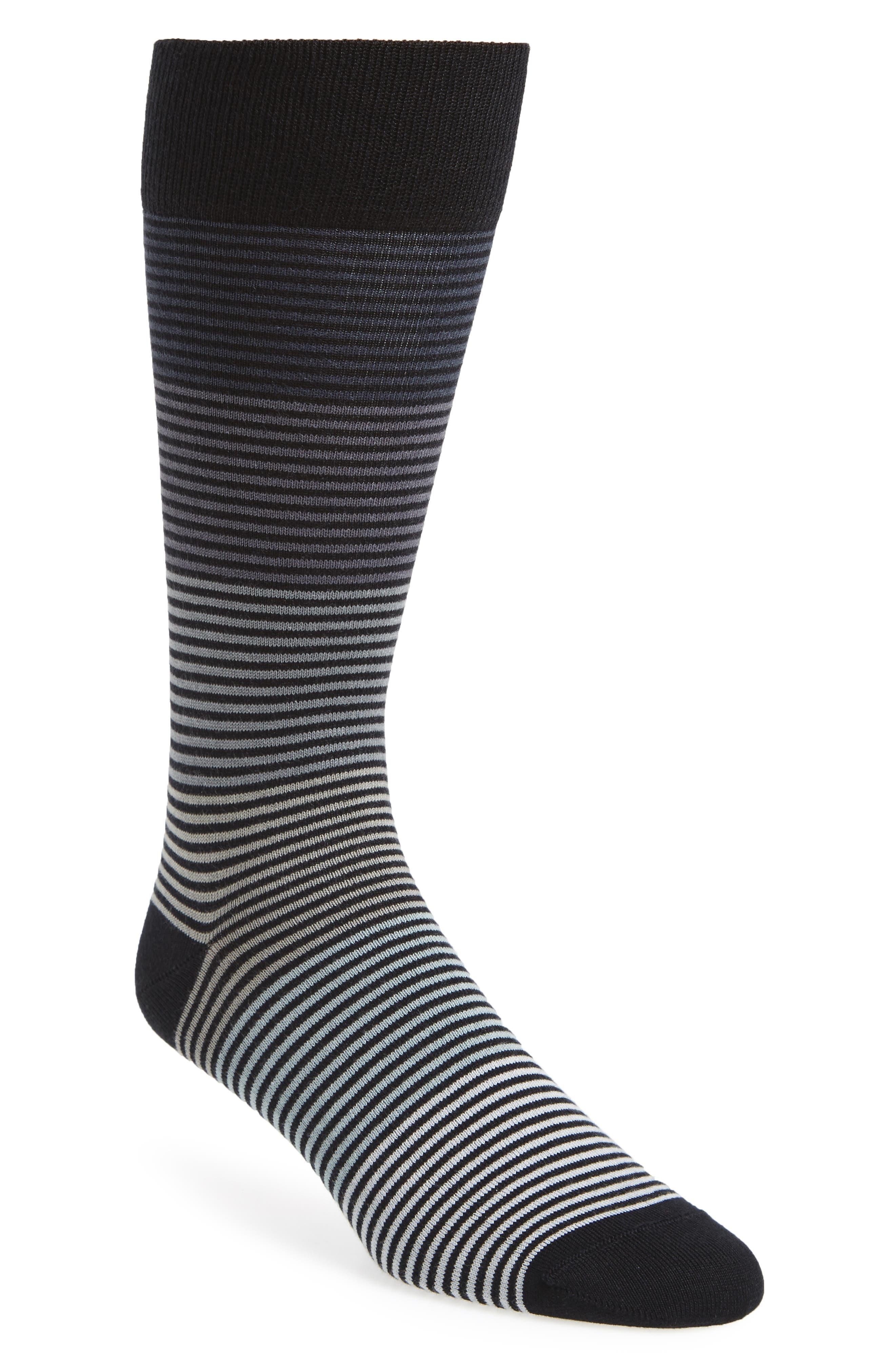 Gradient Stripe Socks,                             Main thumbnail 1, color,                             001