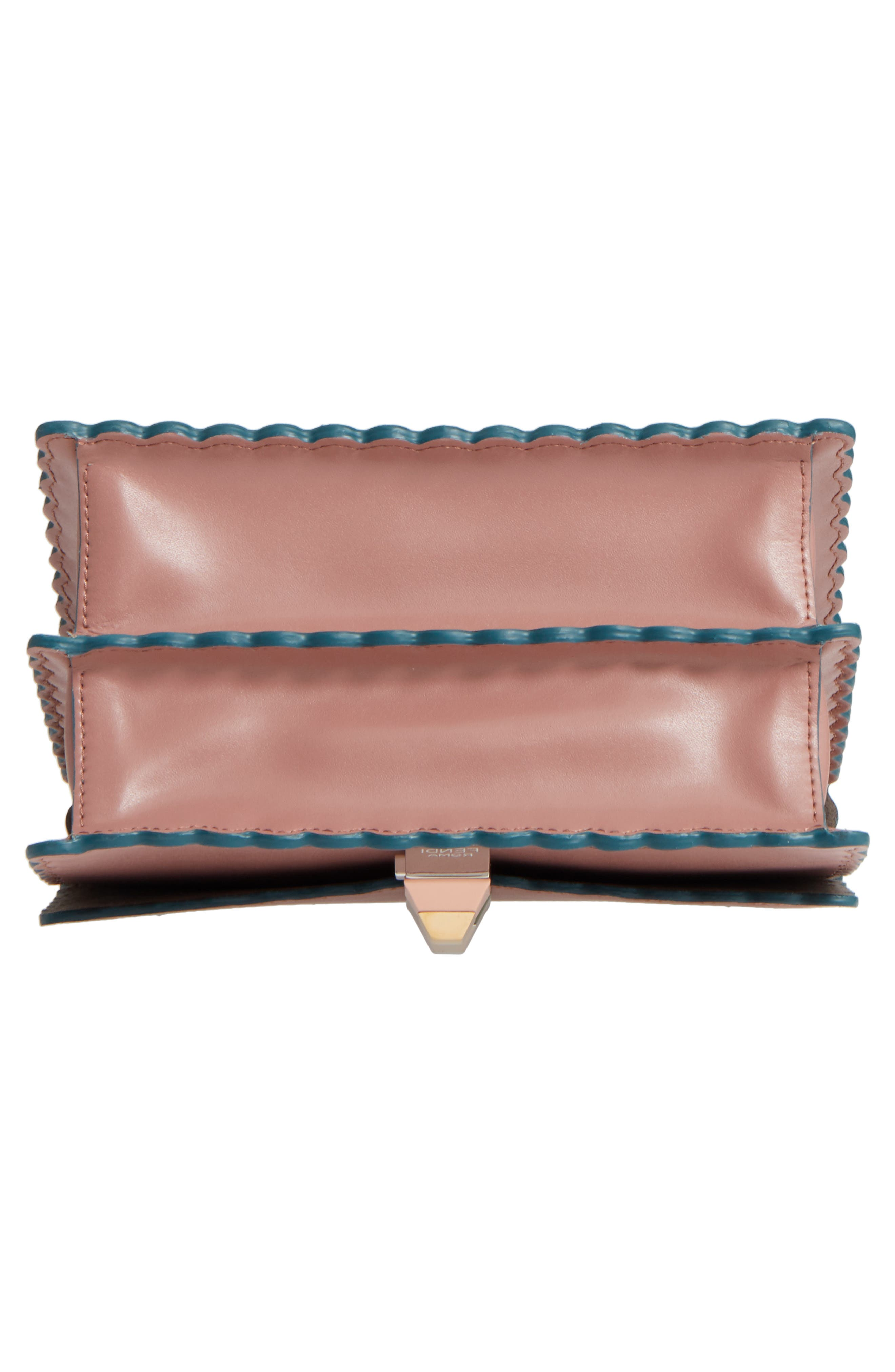 Small Kan I Scallop Leather Shoulder Bag,                             Alternate thumbnail 6, color,                             674