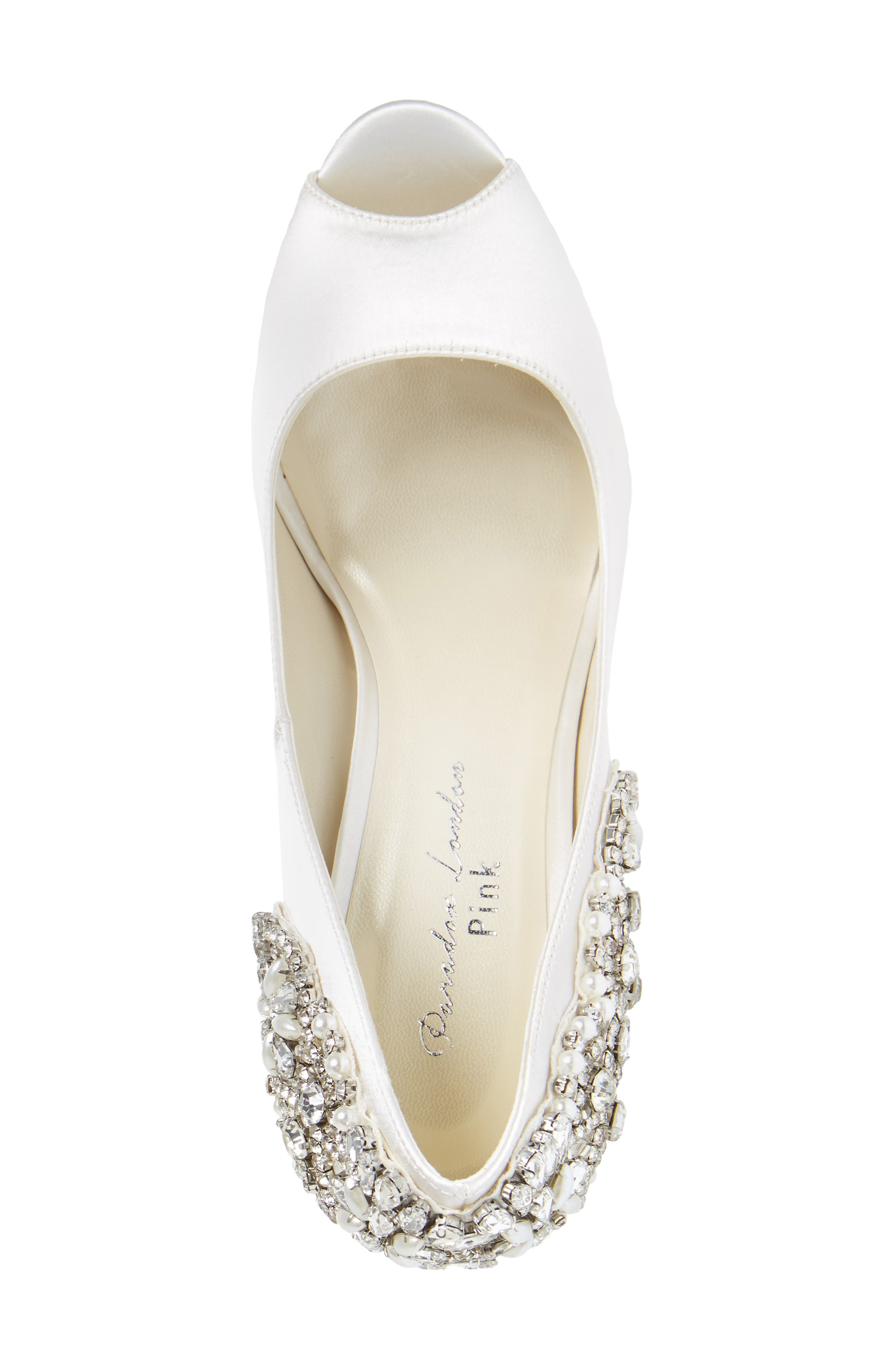 Cynthia Embellished Pump,                             Alternate thumbnail 5, color,                             IVORY SATIN
