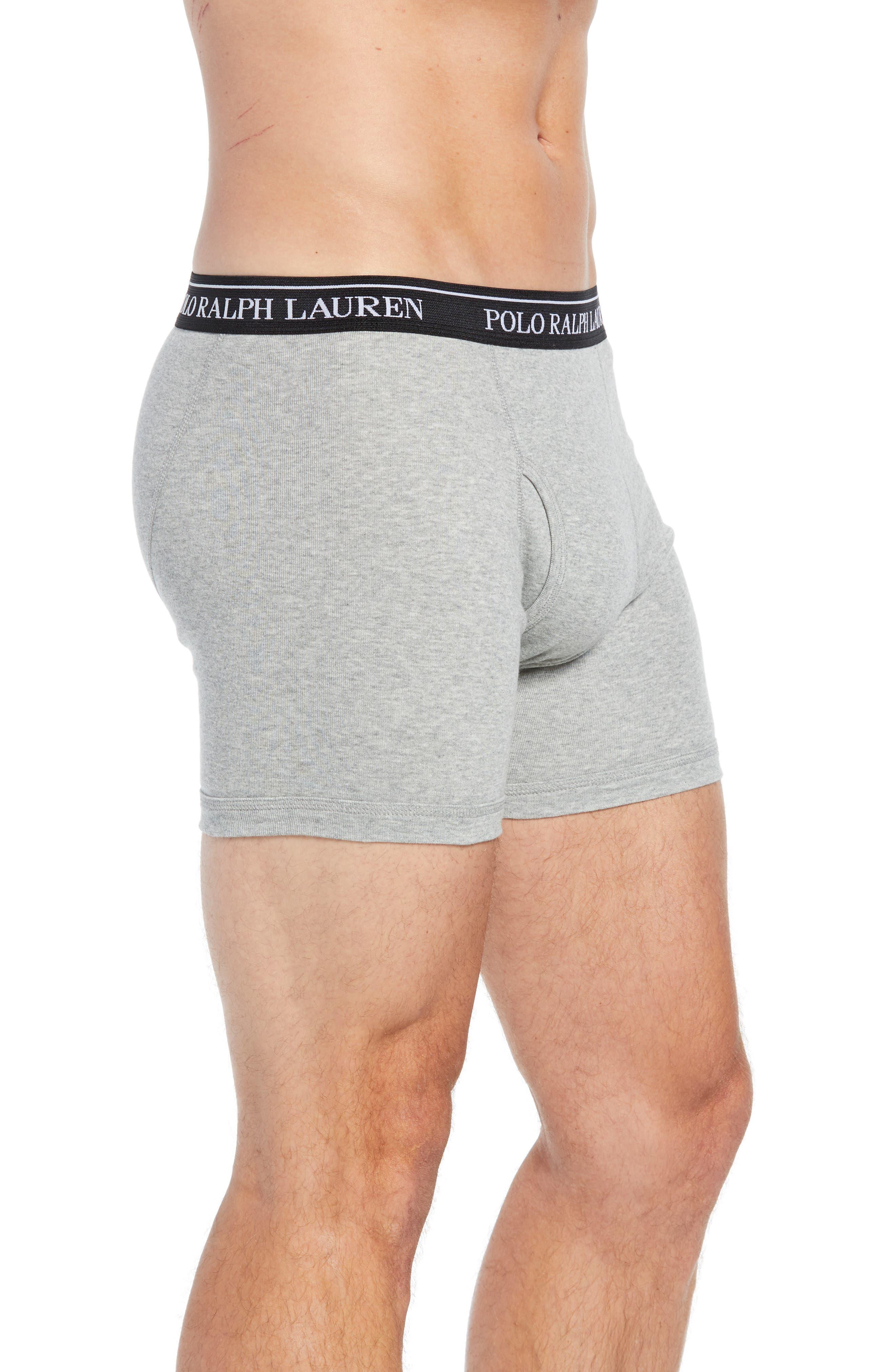 Polo Ralph Lauren 5-Pack Cotton Boxer Briefs,                             Alternate thumbnail 4, color,                             2ANDHTH/MA