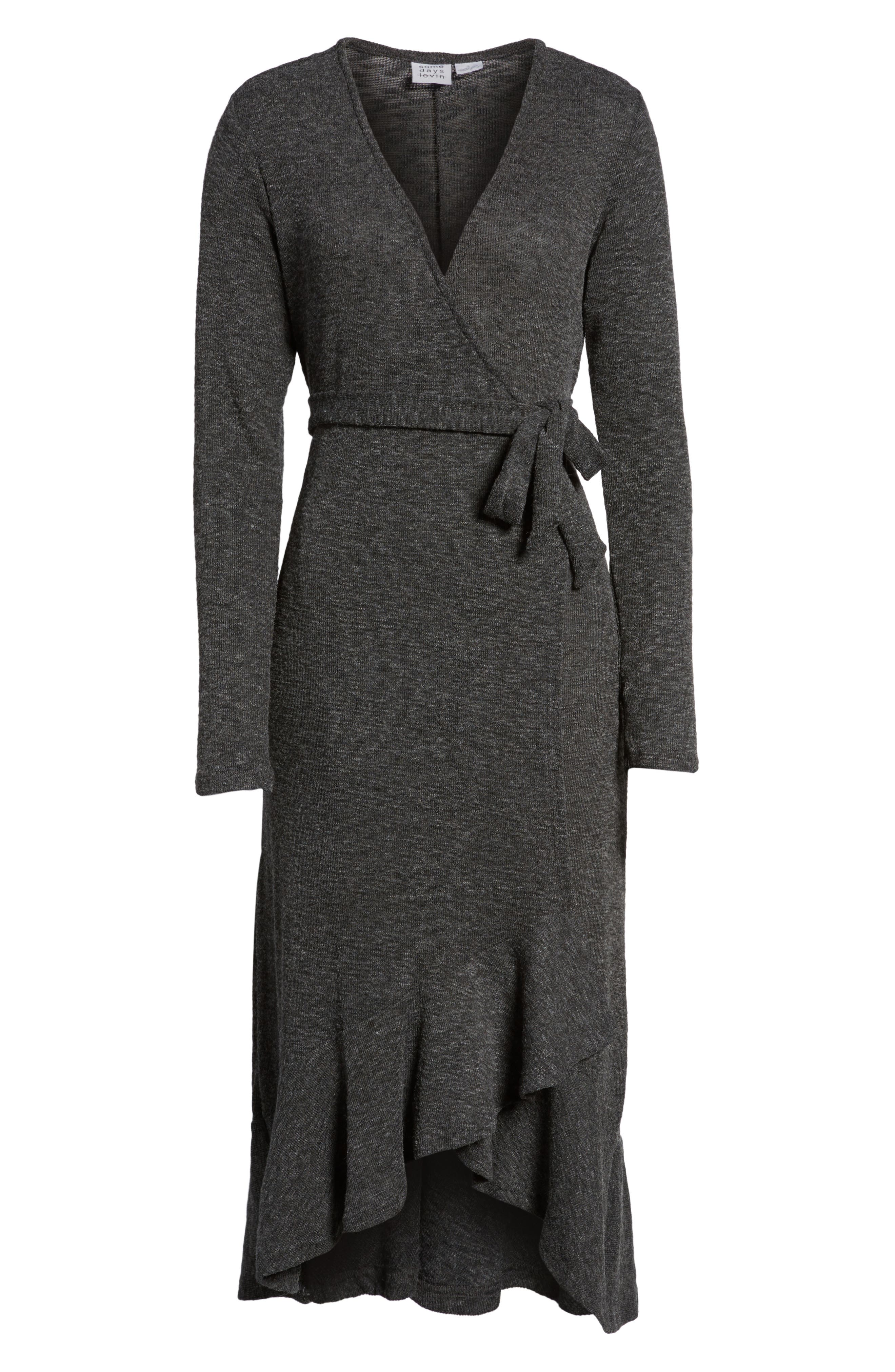 Winter Wandering Wrap Dress,                             Alternate thumbnail 6, color,                             020