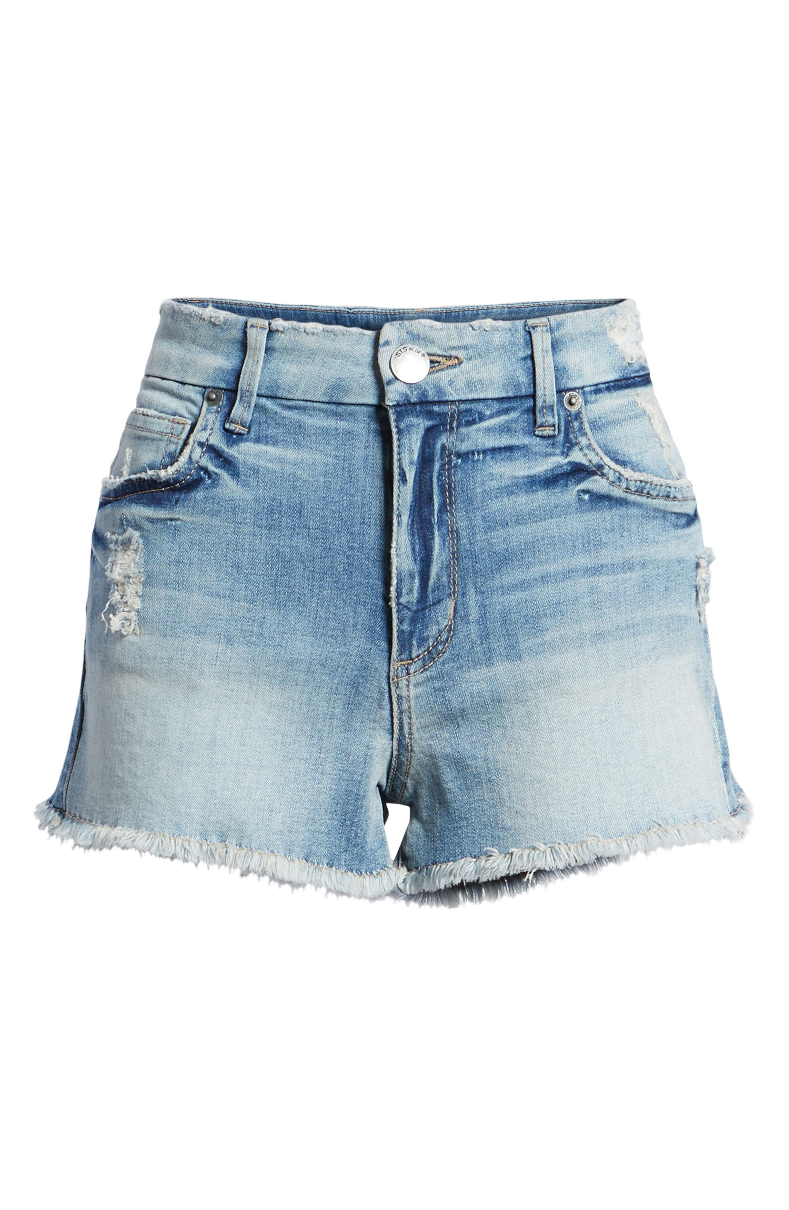 High Waist Boyfriend Shorts,                             Alternate thumbnail 7, color,                             400