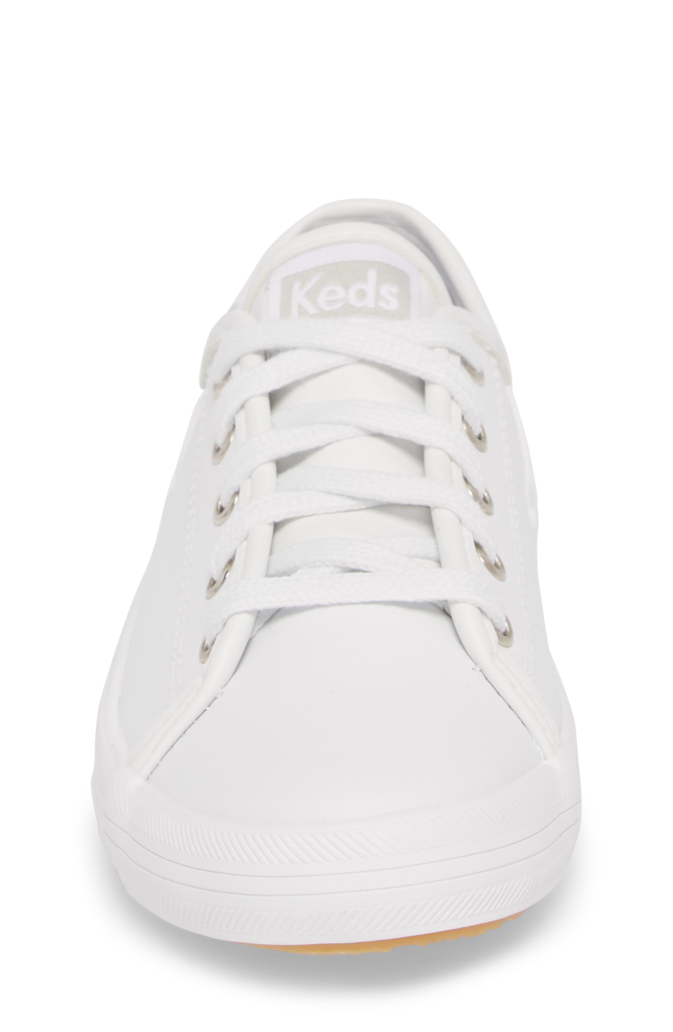 Kickstart Sneaker,                             Alternate thumbnail 4, color,                             WHITE