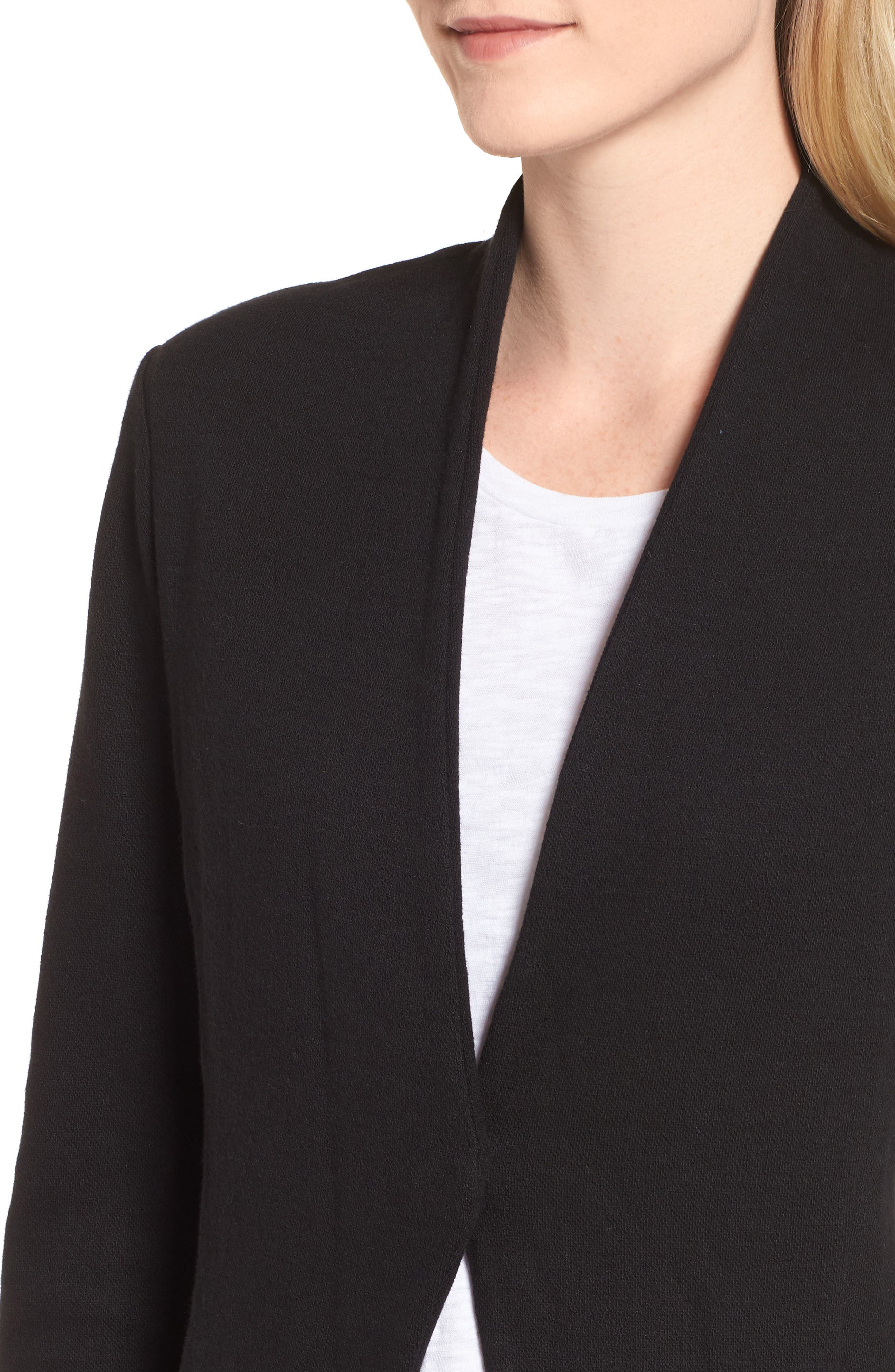 Sleek Jacket,                             Alternate thumbnail 4, color,                             BLACK ONYX