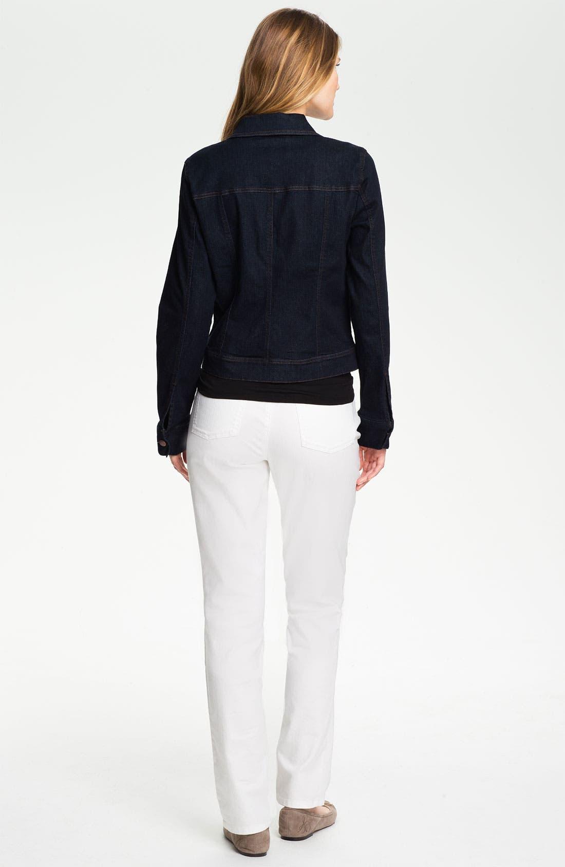 Organic Cotton Blend Denim Jacket,                             Alternate thumbnail 3, color,                             402