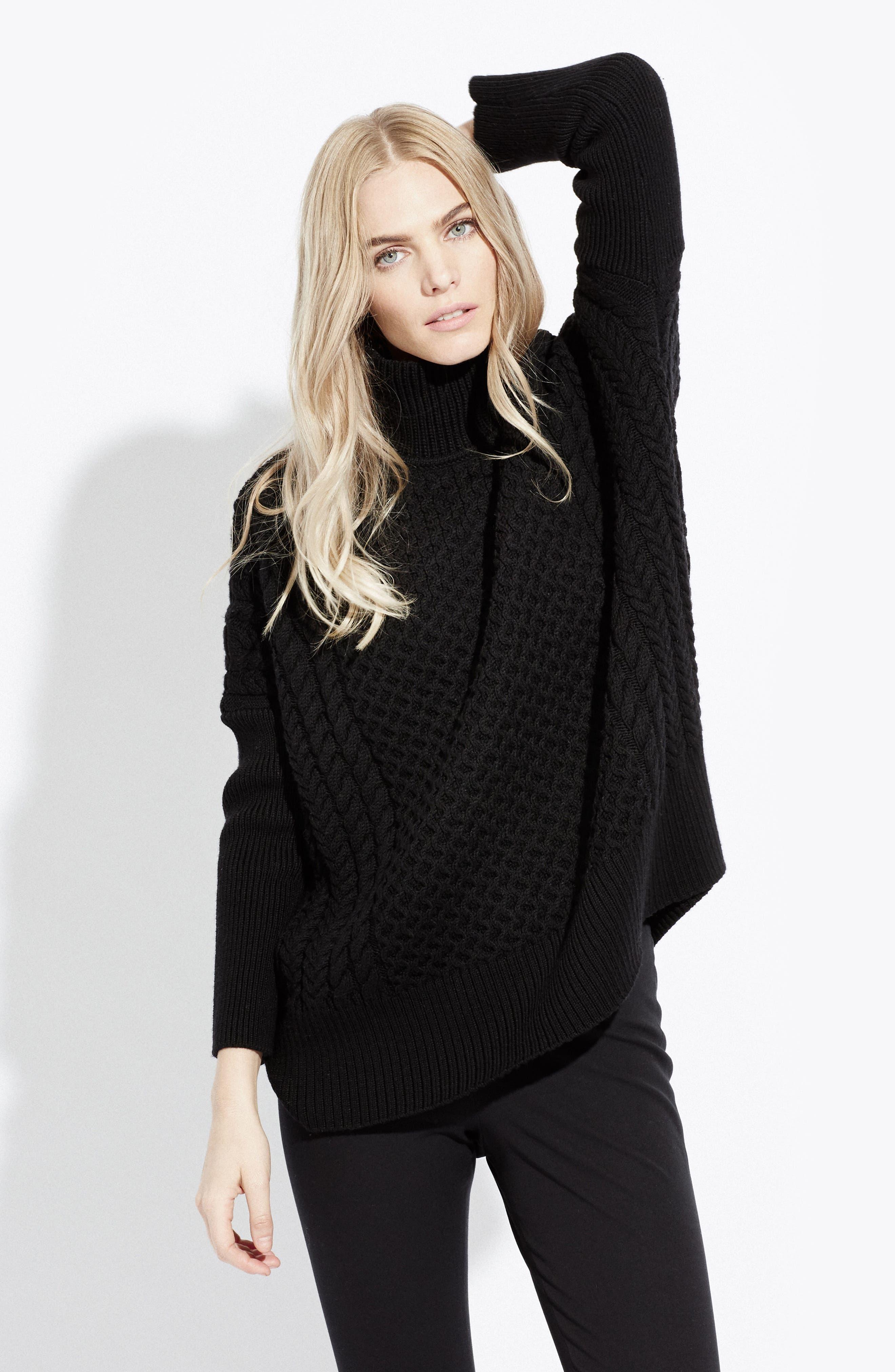 Le Square Turtleneck Sweater,                             Alternate thumbnail 4, color,                             001