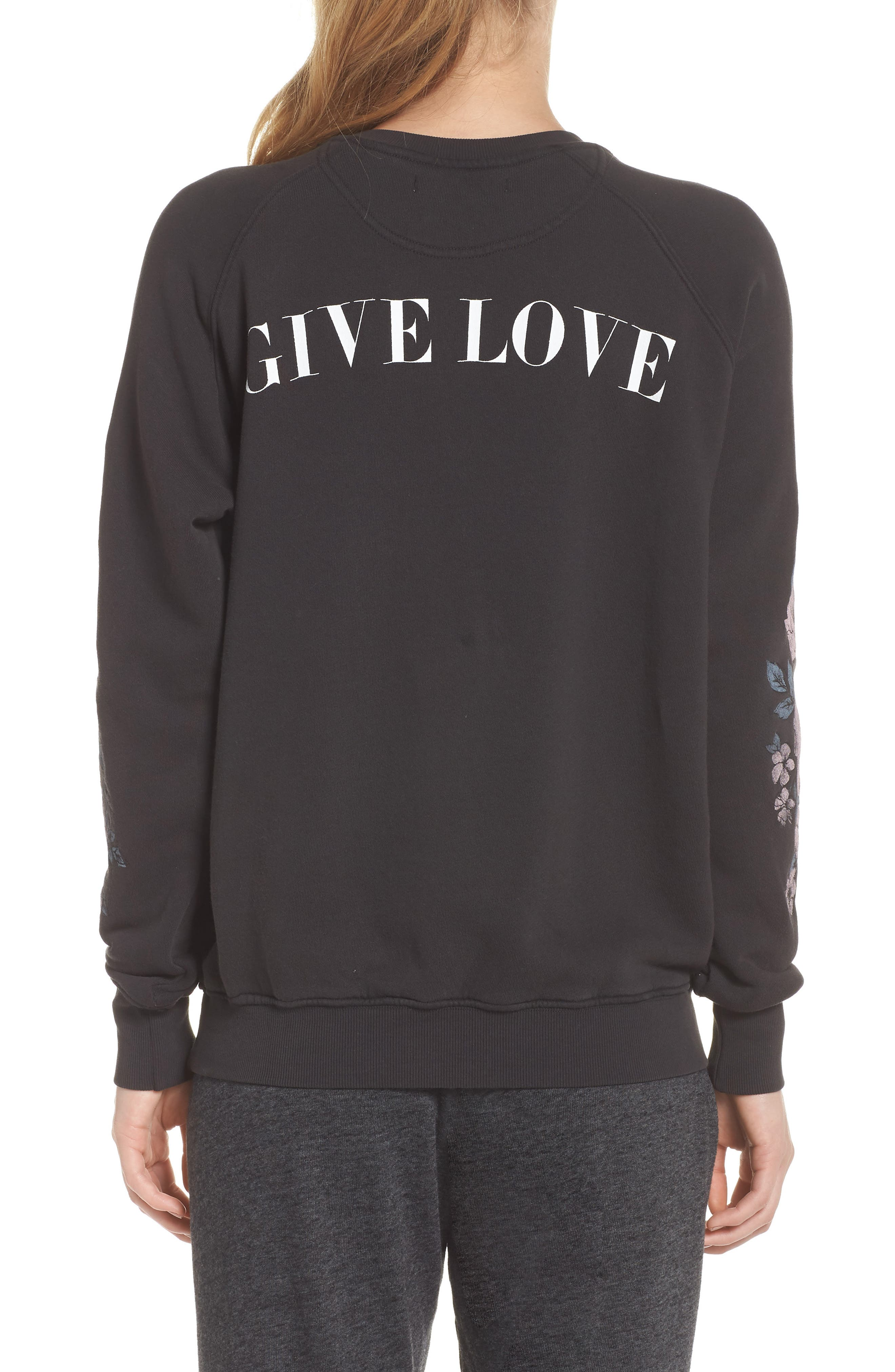 Give Love Sweatshirt,                             Alternate thumbnail 2, color,                             VINTAGE BLACK