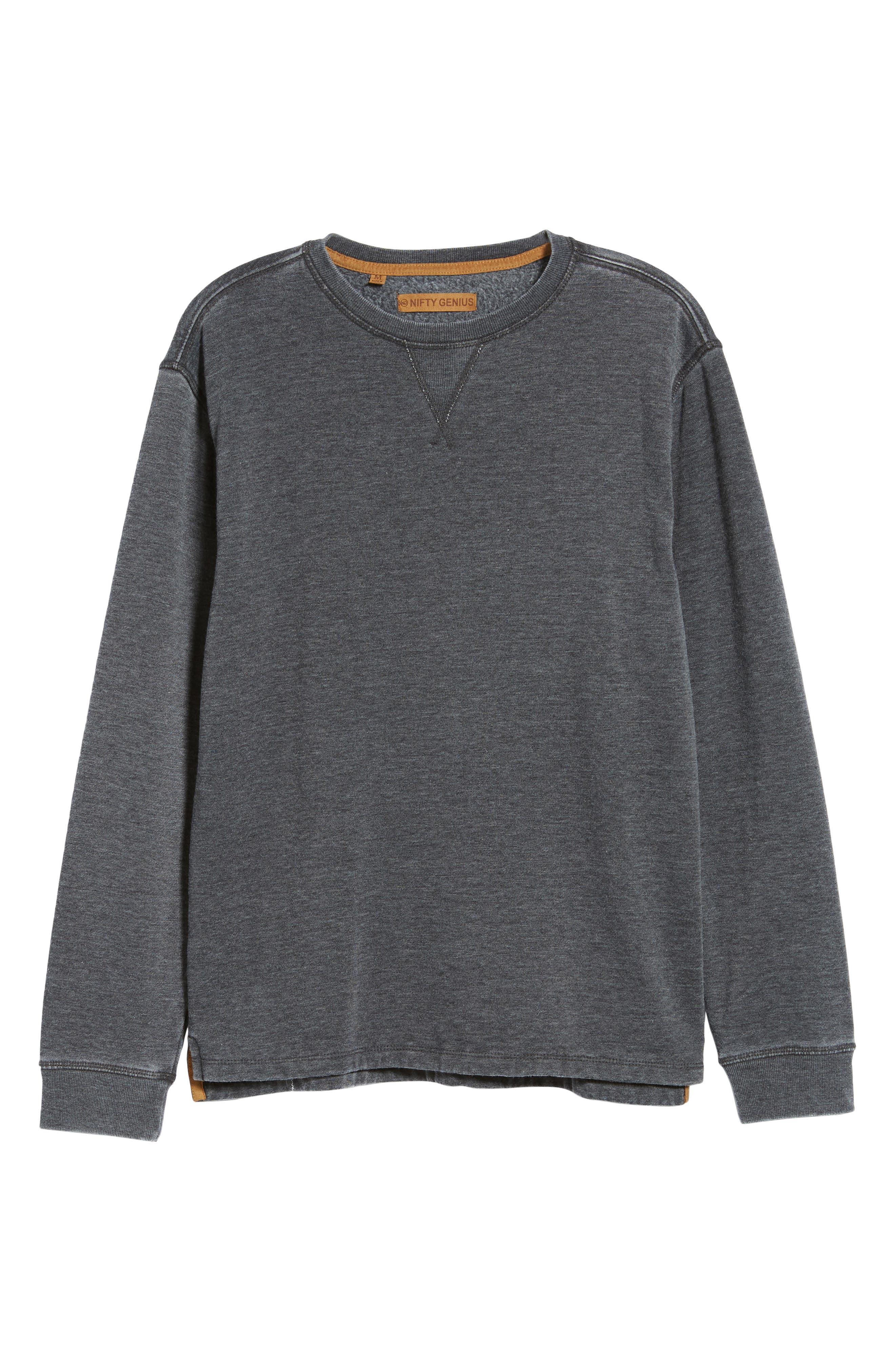 Crewneck Regular Fit Pullover,                             Alternate thumbnail 6, color,                             021