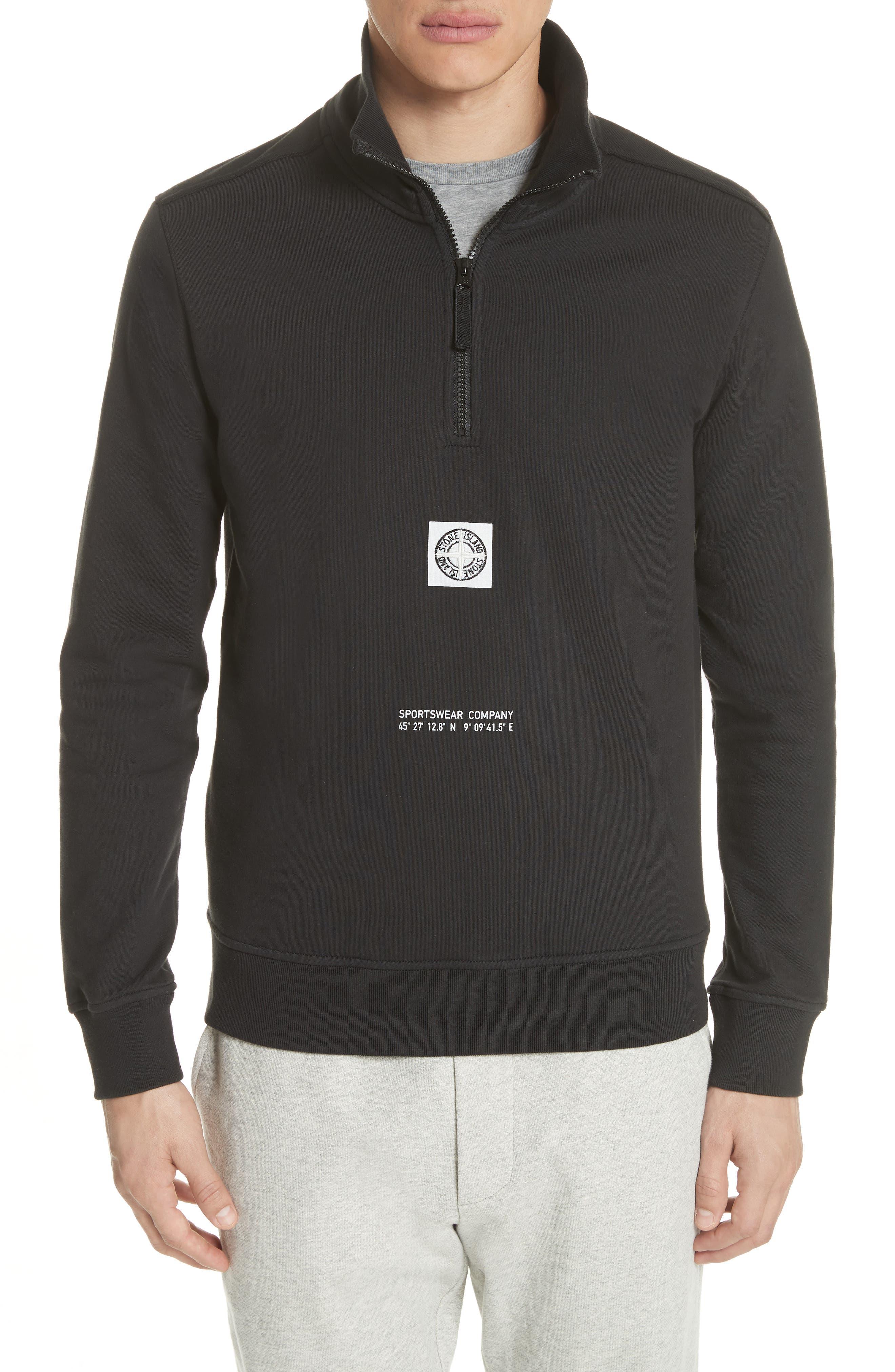 Half Zip Sweatshirt,                         Main,                         color, 001