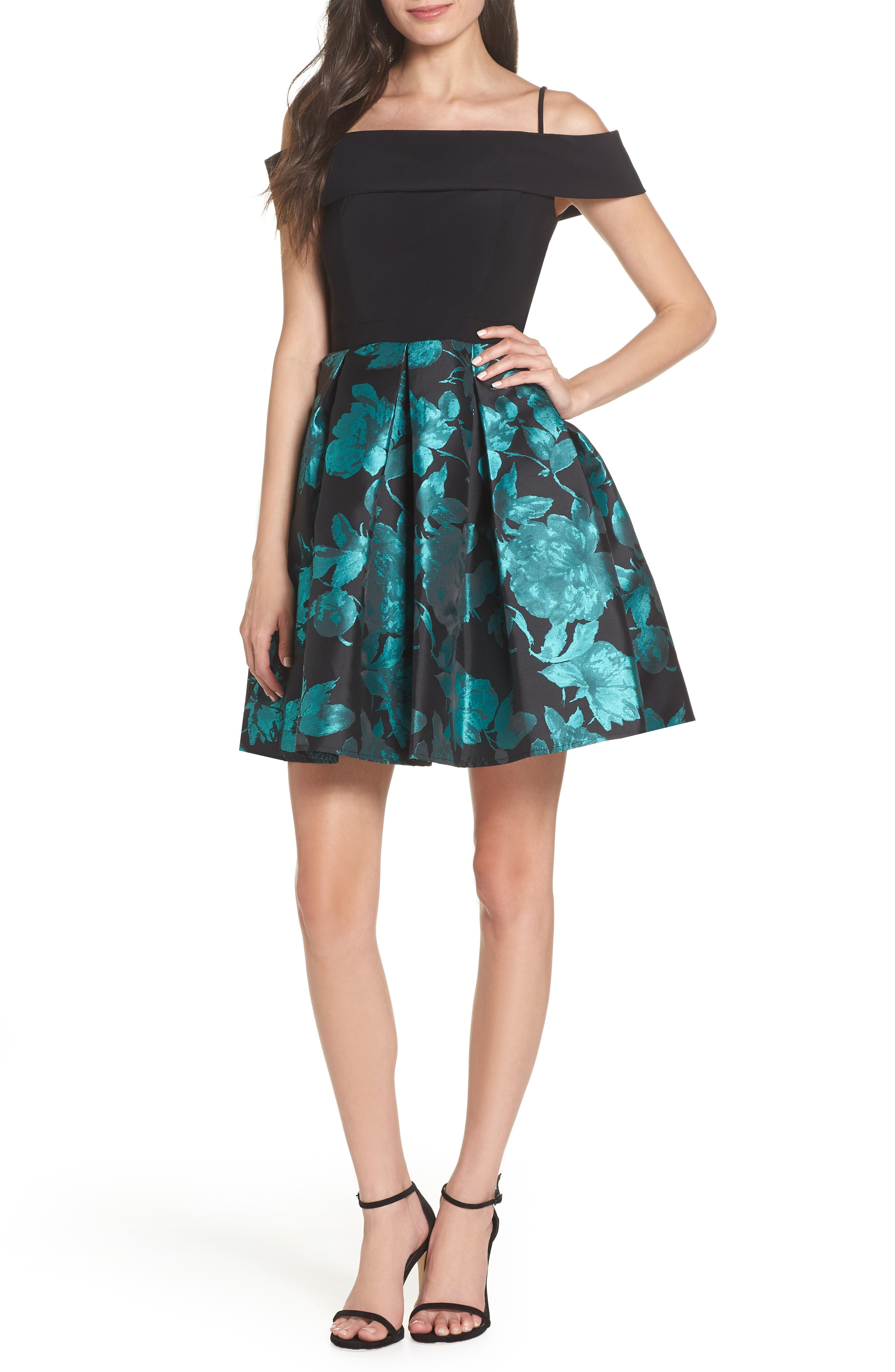 Morgan & Co. Fit & Flare Dress, Black
