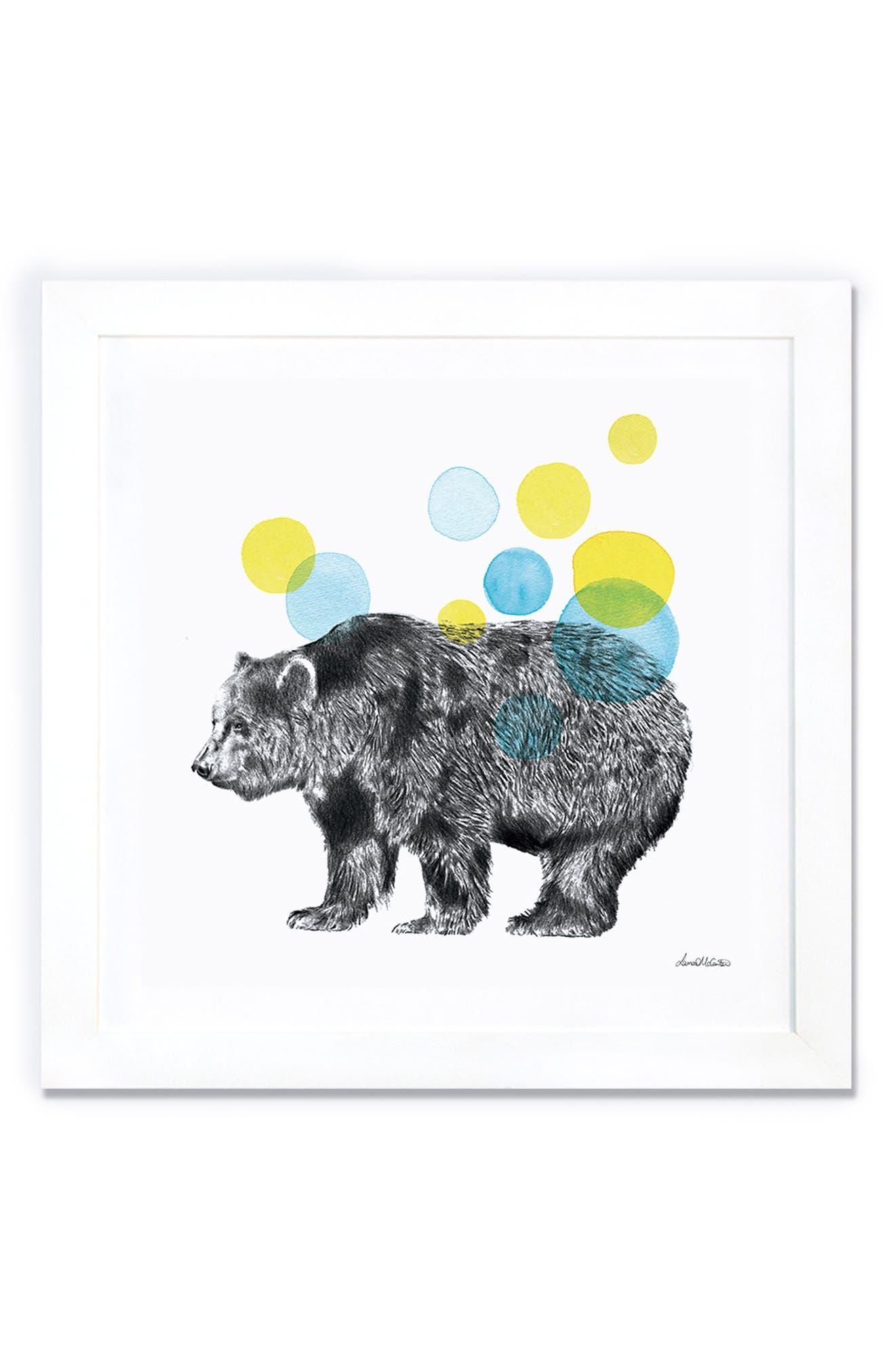 'Sketchbook - Bear' Giclée Print Framed Canvas Art,                             Alternate thumbnail 3, color,