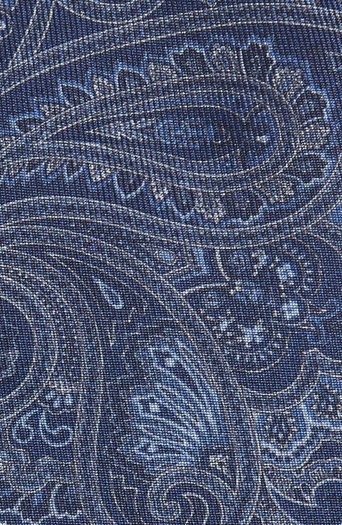 Paisley Silk Tie,                             Alternate thumbnail 2, color,                             NAVY