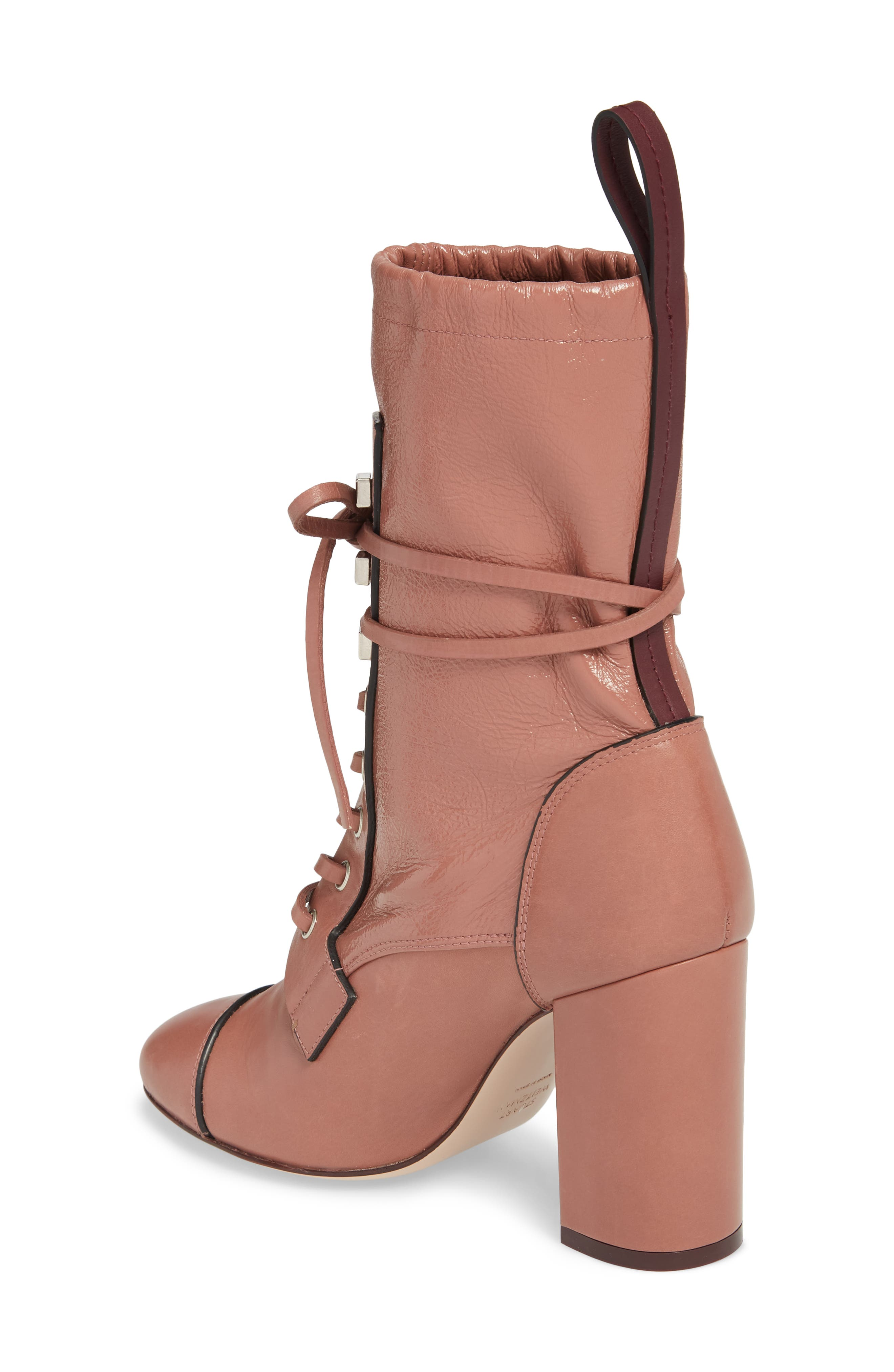 Veruka Lace-Up Boot,                             Alternate thumbnail 2, color,                             ROSE CLAY GLEAMING