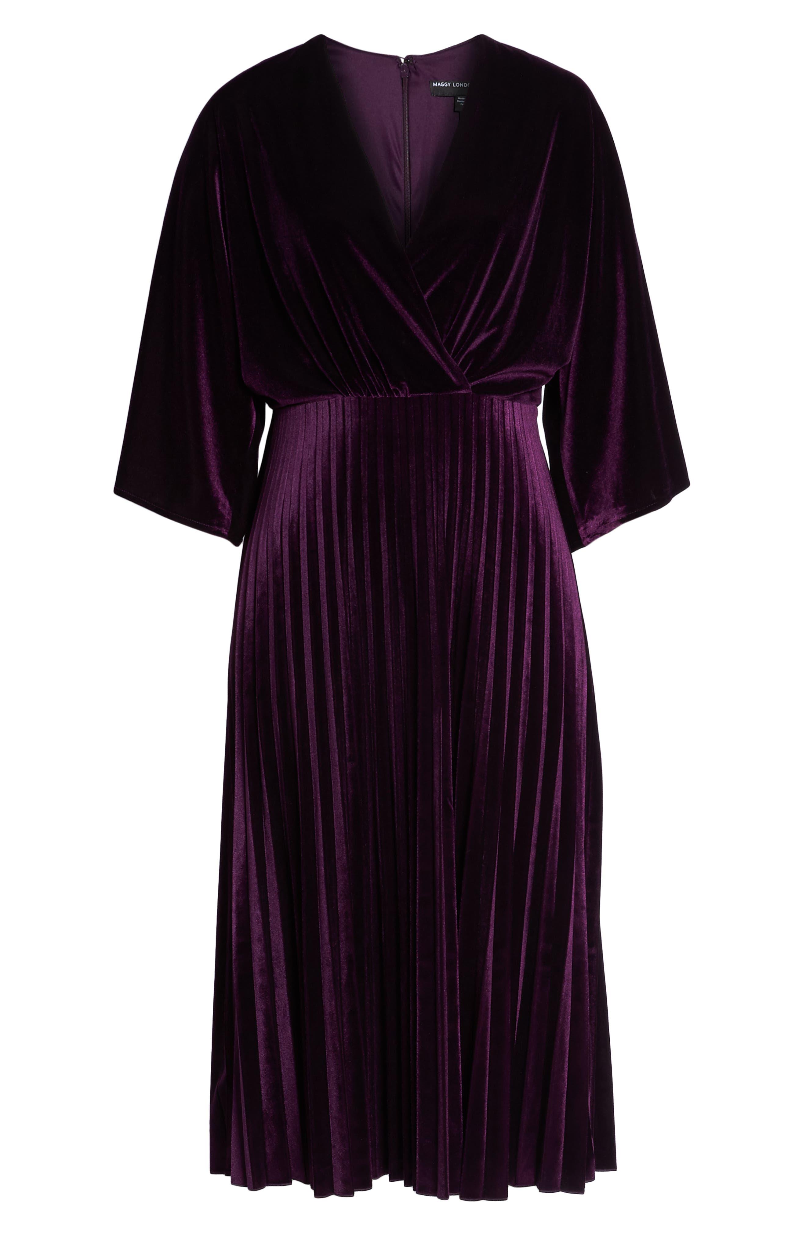 Kimono Pleated Dress,                             Alternate thumbnail 7, color,                             506