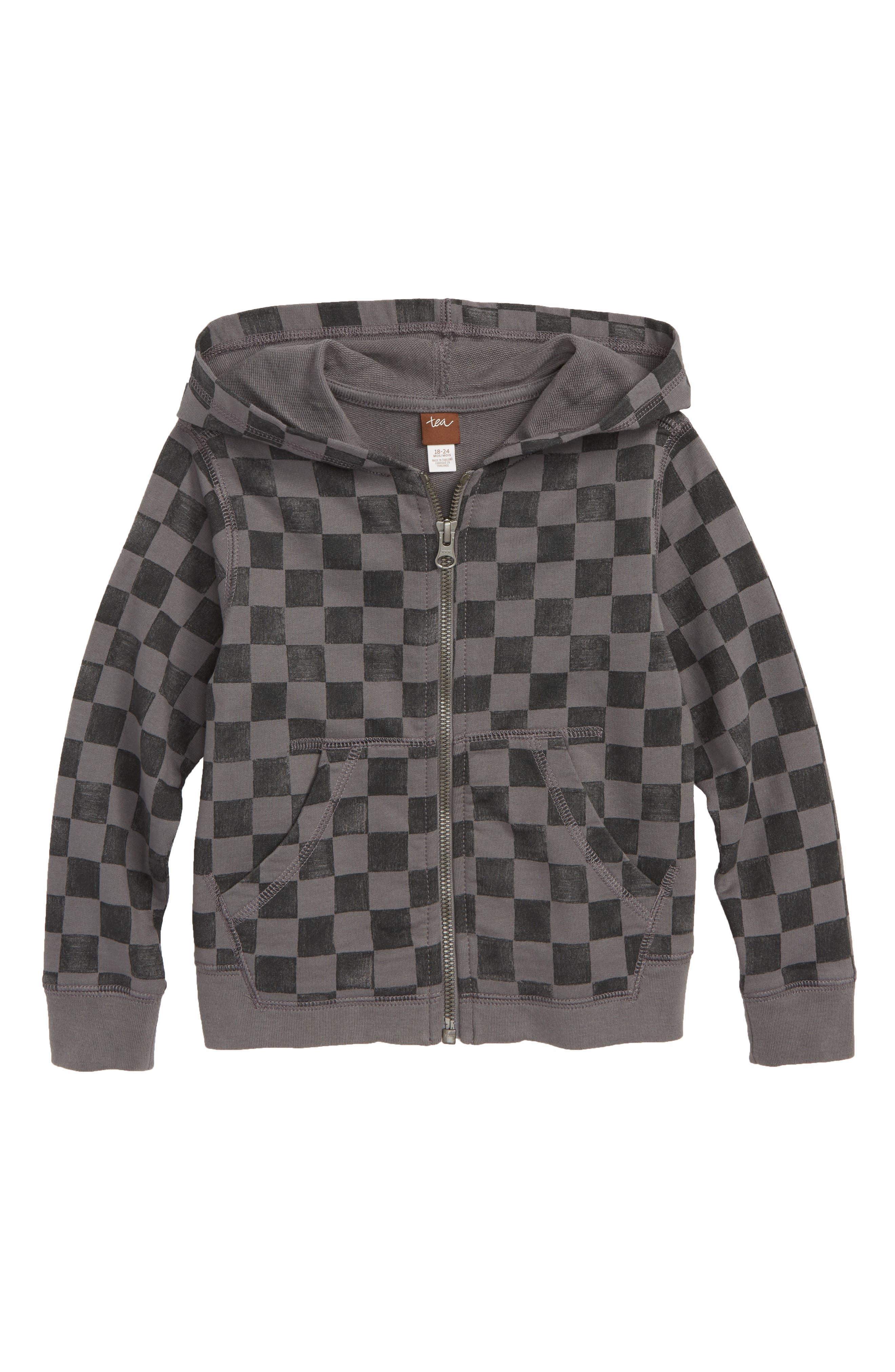 Checkerboard Zip Hoodie,                         Main,                         color, 099