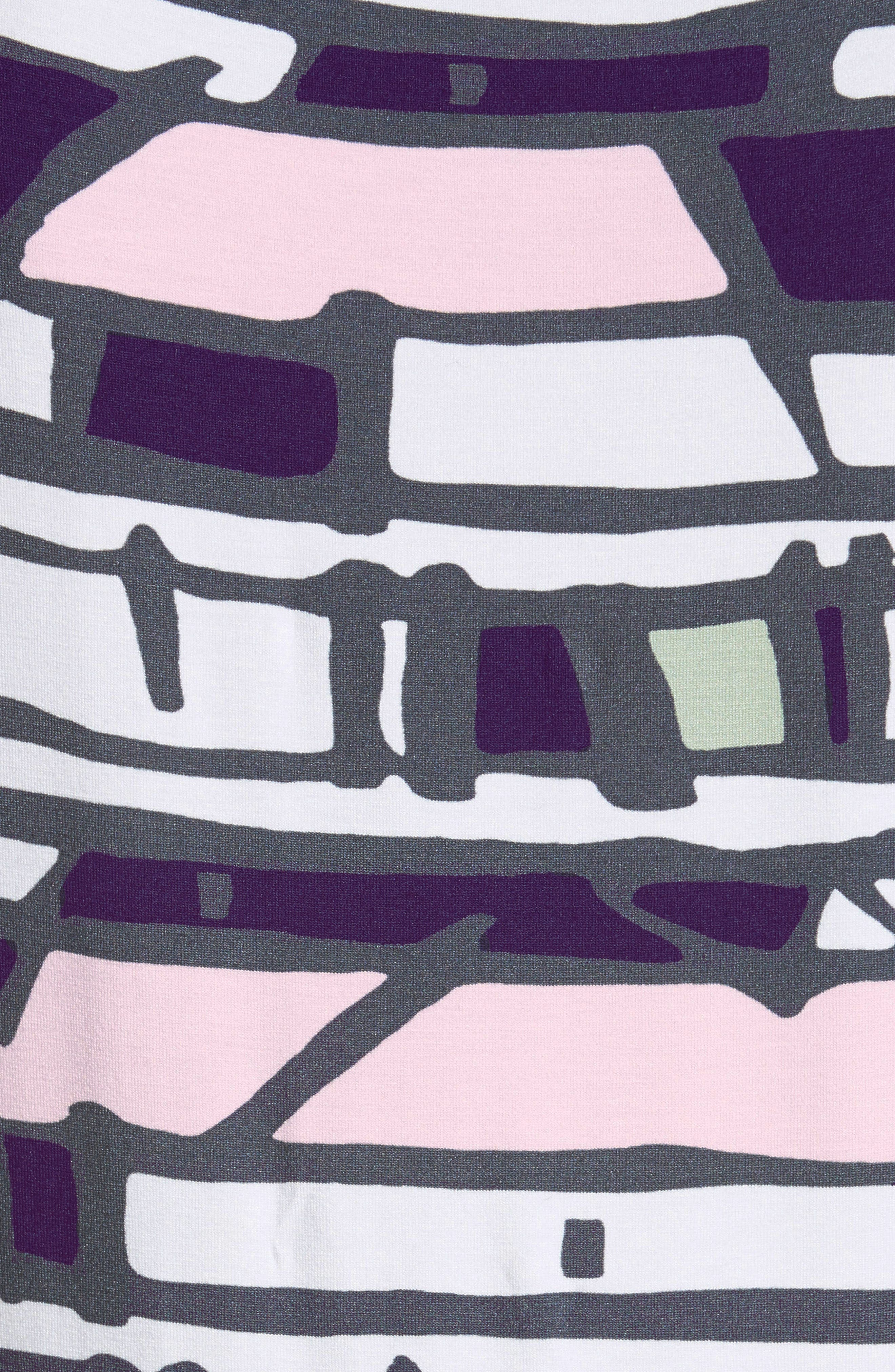 Broken Stripe Print Top,                             Alternate thumbnail 5, color,