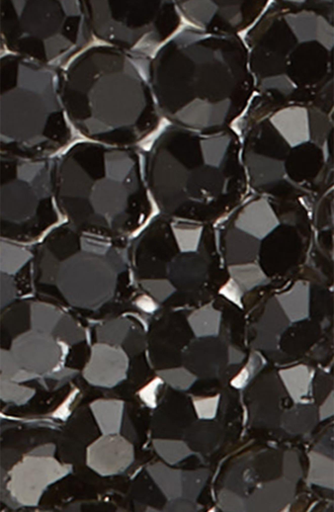 Crystal Bow Ponytail Holder,                             Alternate thumbnail 2, color,                             BLACK
