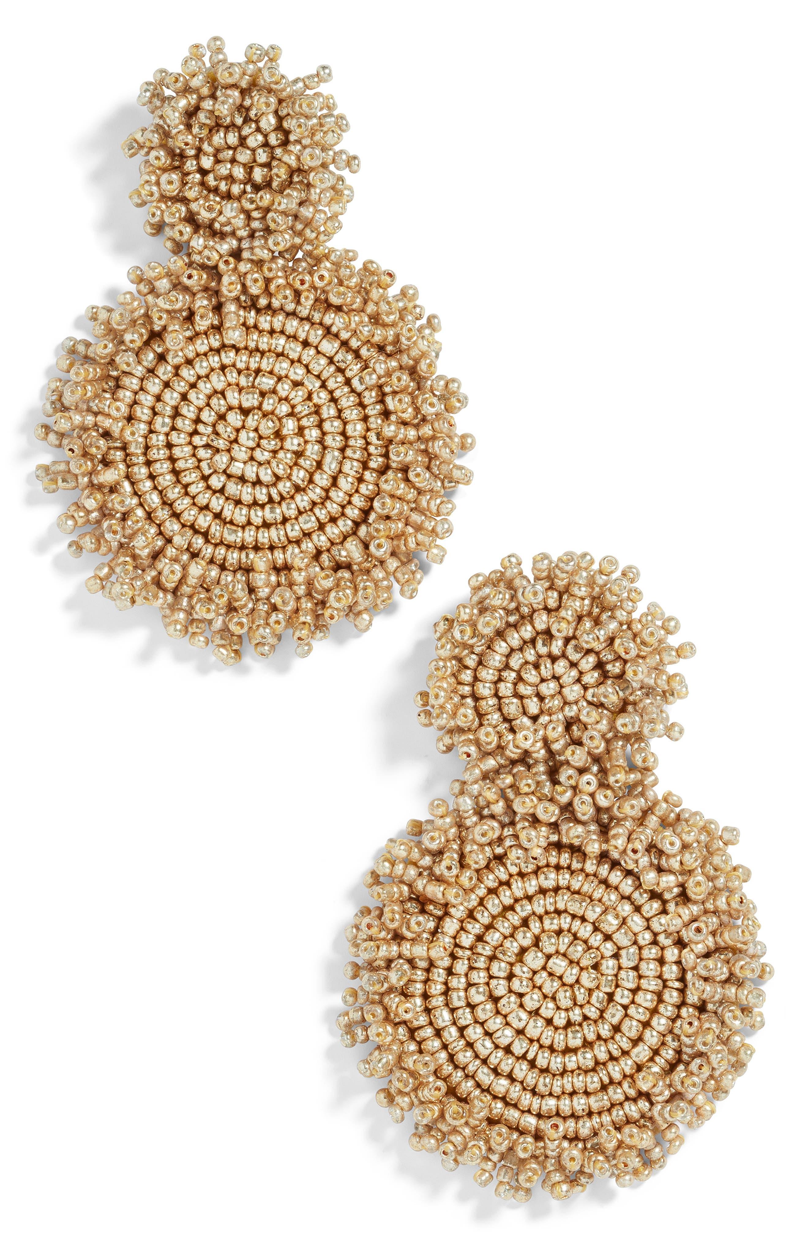BAUBLEBAR Rianne Beaded Drop Earrings, Main, color, GOLD