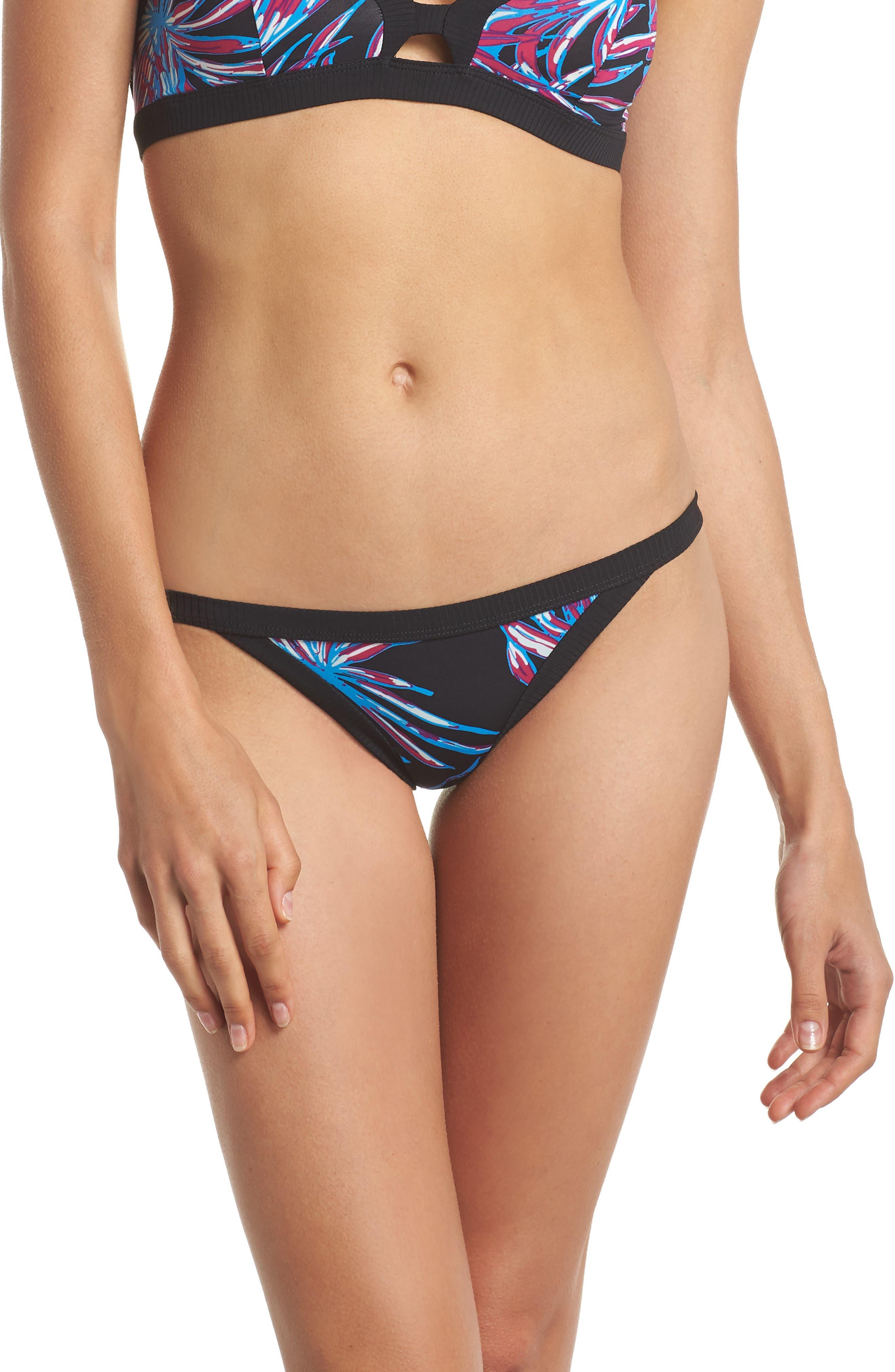 Koko Quick Dry Bikini Bottoms,                         Main,                         color, BLACK