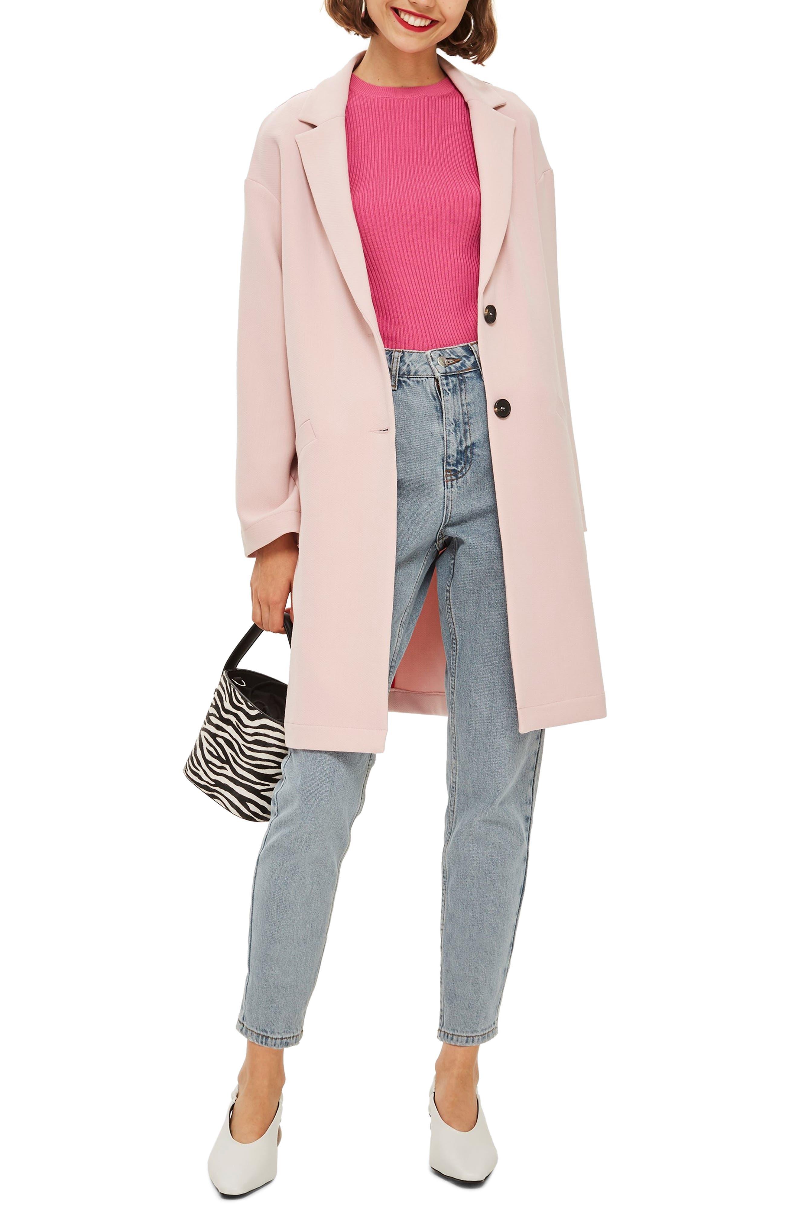 Crepe Coat,                         Main,                         color, BLUSH