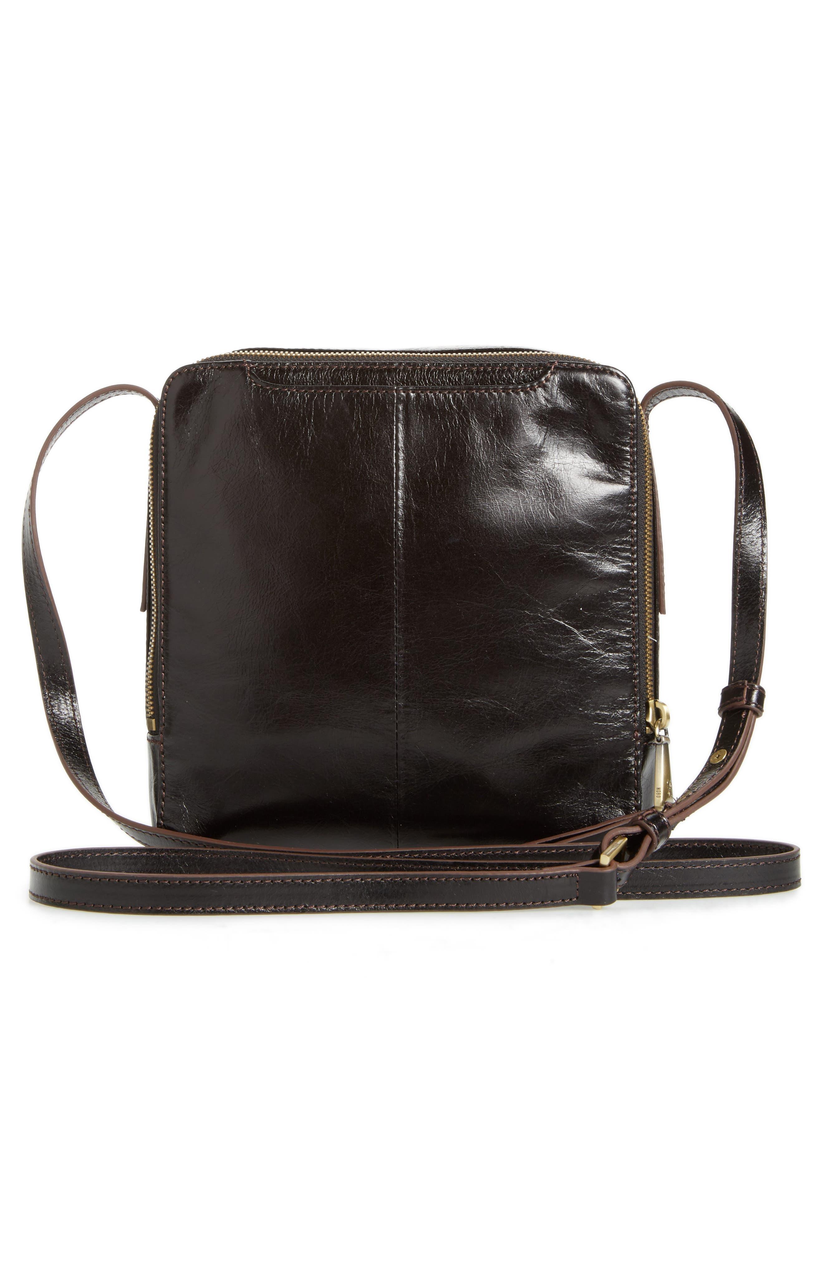 Lyric Leather Crossbody Bag,                             Alternate thumbnail 3, color,                             001